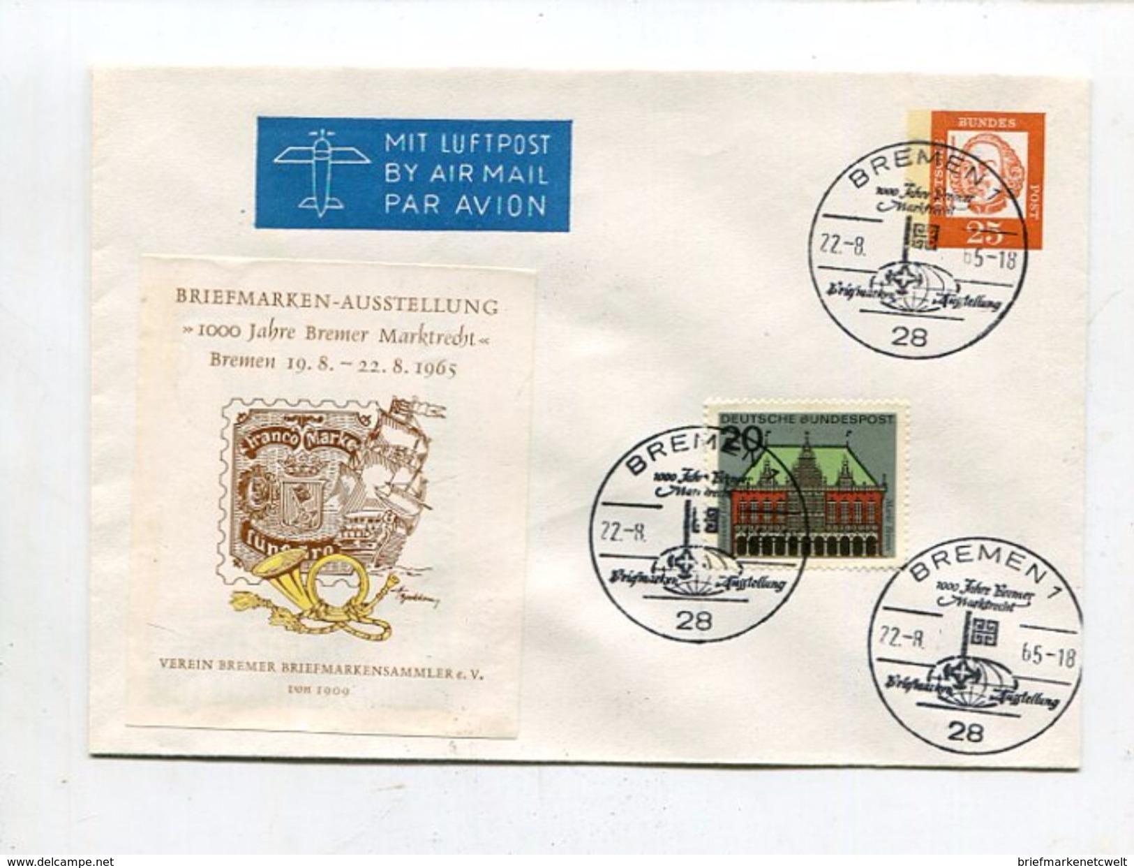 """Bundesrepublik Deutschland / 1965 / Lupo-So-GSU """"Briefmarken-Ausstellung"""" SSt. Bremen (11/161) - [7] West-Duitsland"""