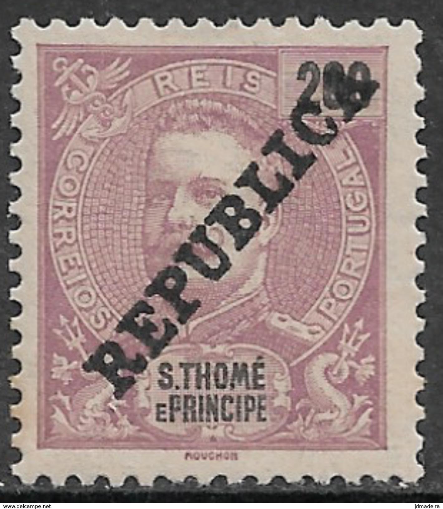 St. Thomas And Prince - 1913 King Carlos Overprinted - St. Thomas & Prince