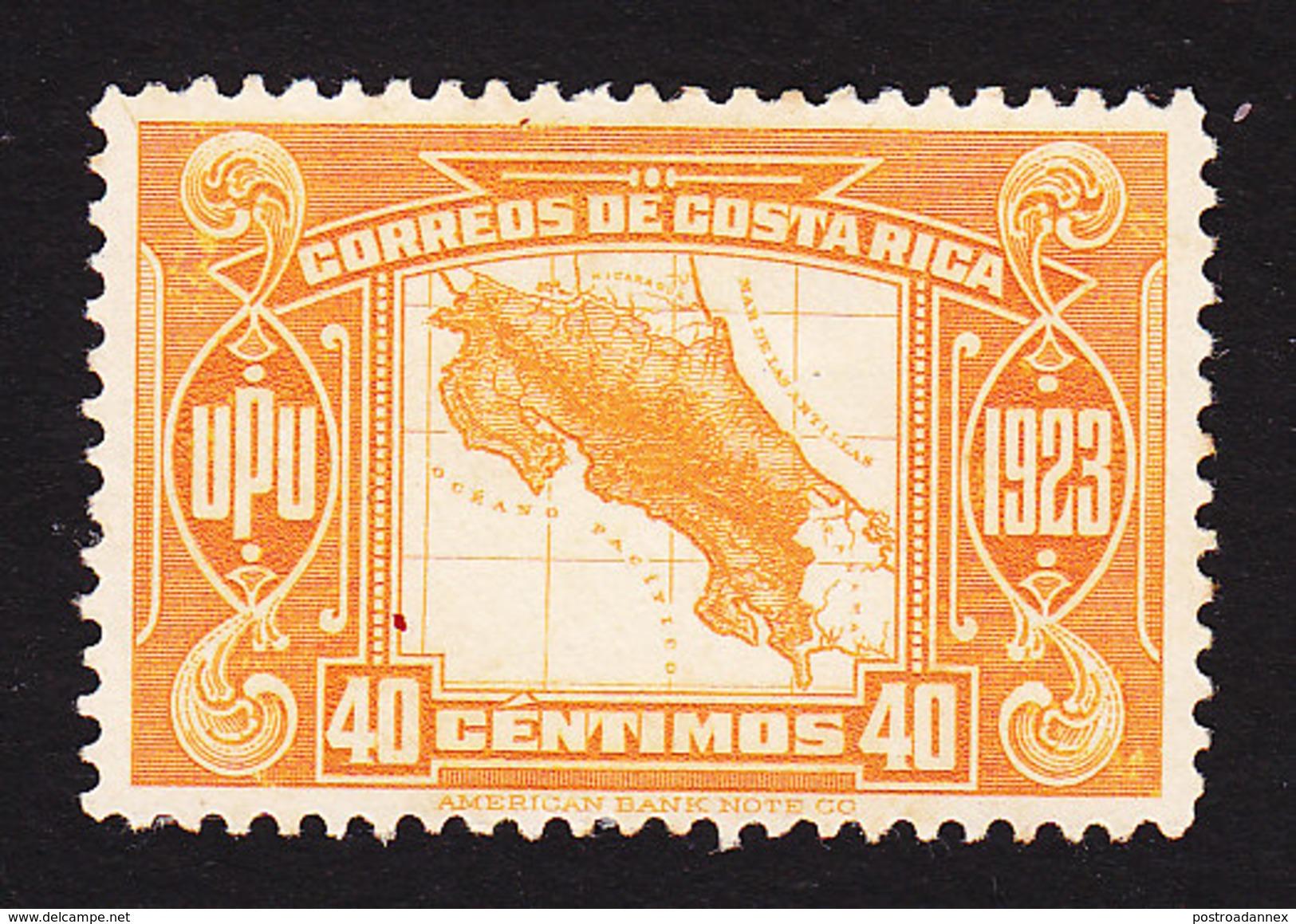 Costa Rica, Scott #126, Mint No Gum, Map, Issued 1923 - Costa Rica