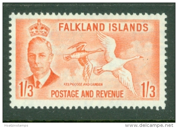 Falkland Is: 1950   KGVI   SG181    1/3d      MH - Falklandinseln