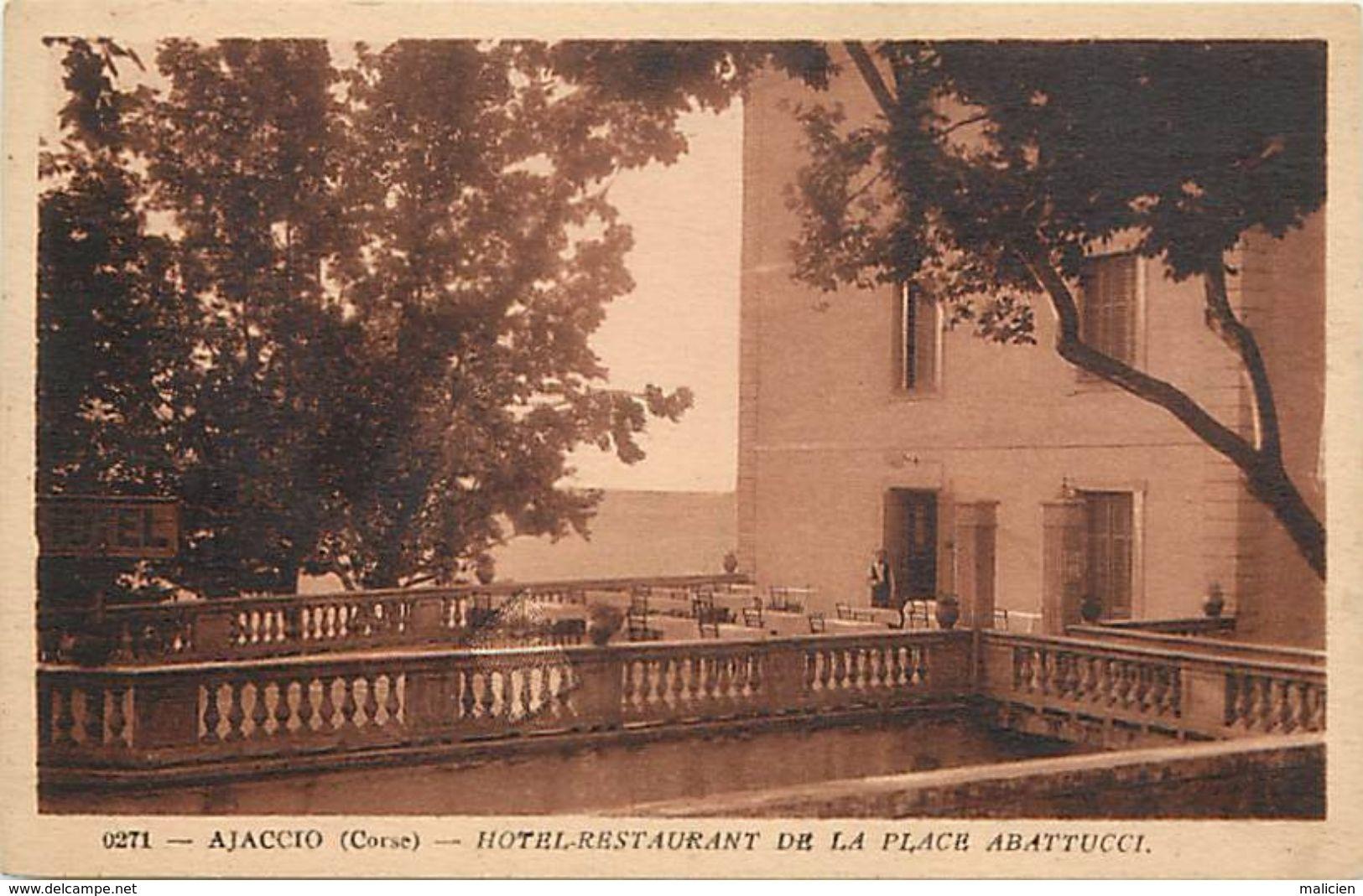 - Dpts Div.-ref-UU986- Corse Du Sud - Ajaccio - Terrasse Hotel Restaurant De La Place Abattuci - S. Panero Propr. - - Ajaccio