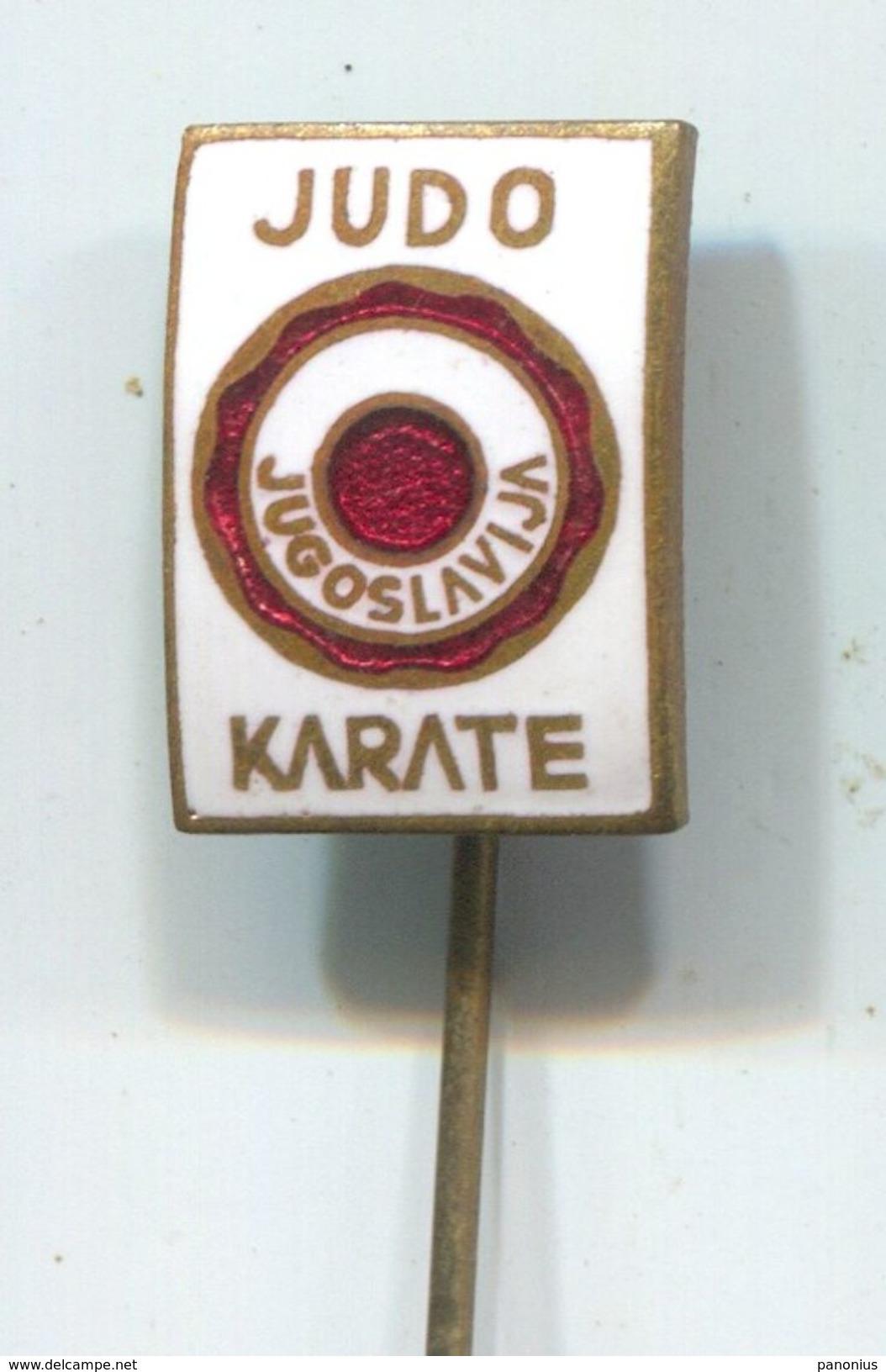 JUDO / KARATE - Federation Yugoslavia, Vintage Pin, Badge, Abzeichen, Enamel - Judo