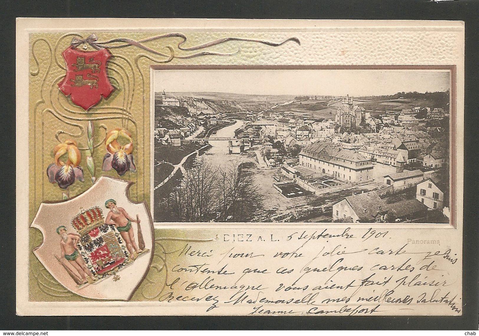 BELLE C.P.A Précurseur Gaufrée - DIEZ -- Voyagée 1901 - Diez