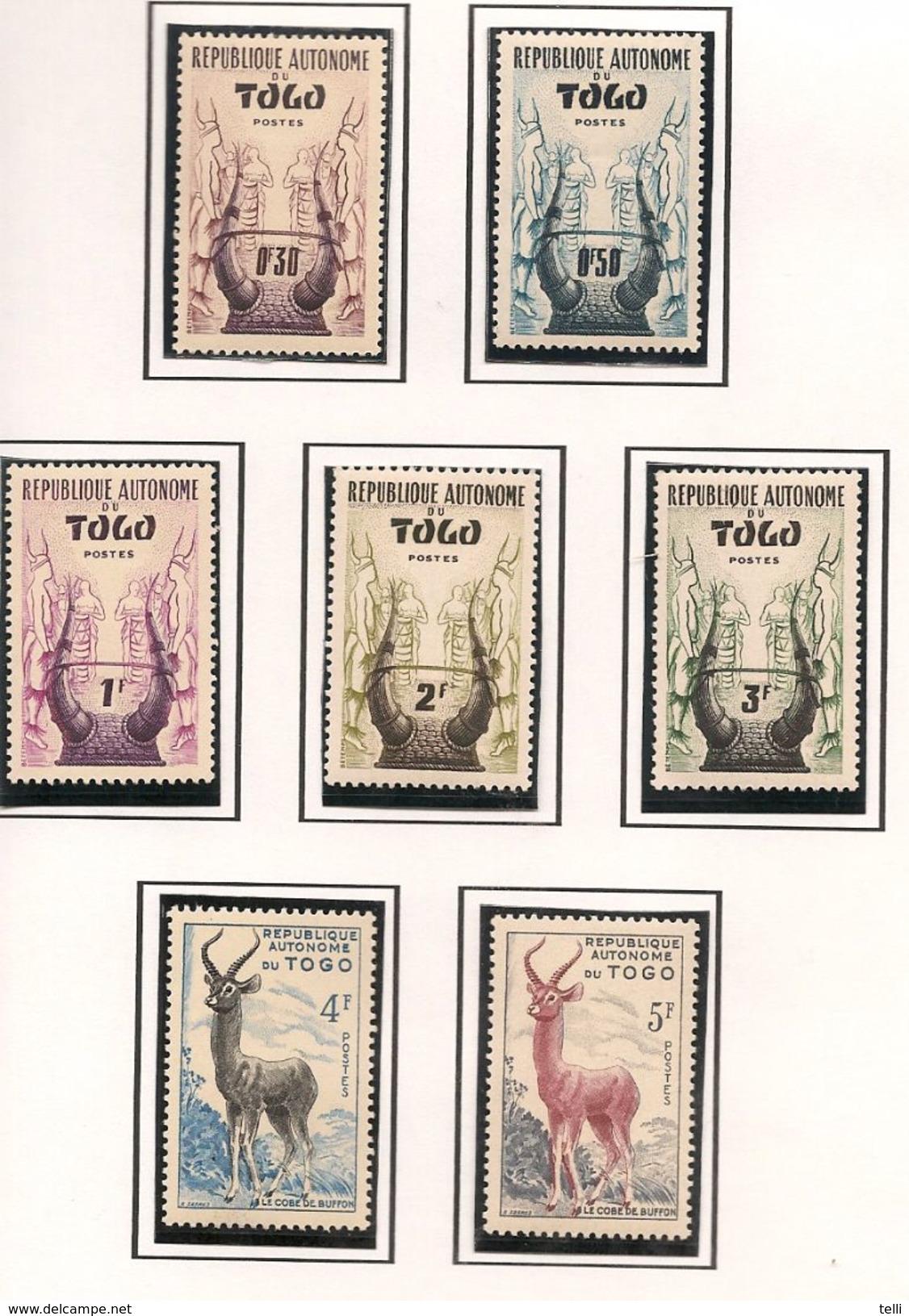 TOGO Scott 333-346 Yvert  261-274 (14) ** Cote 7,5$ - Neufs