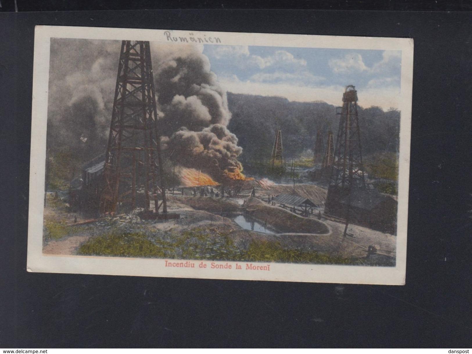 Romania PPC Fire At Moreni Oil Well - Romania