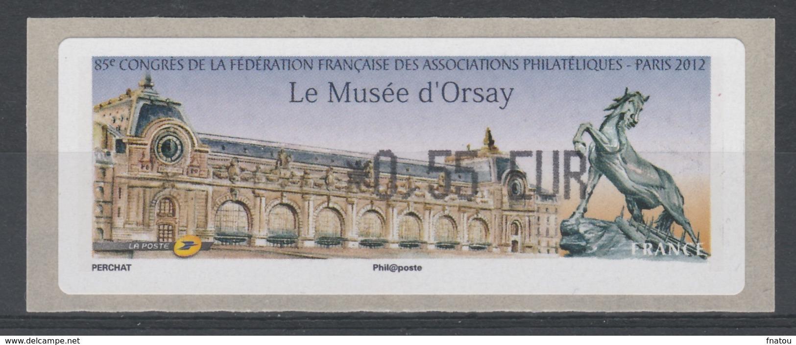 """France, ATM Label, """"le Musée D'Orsay"""", Paris, 2012, 0,55€, MNH VF - France"""