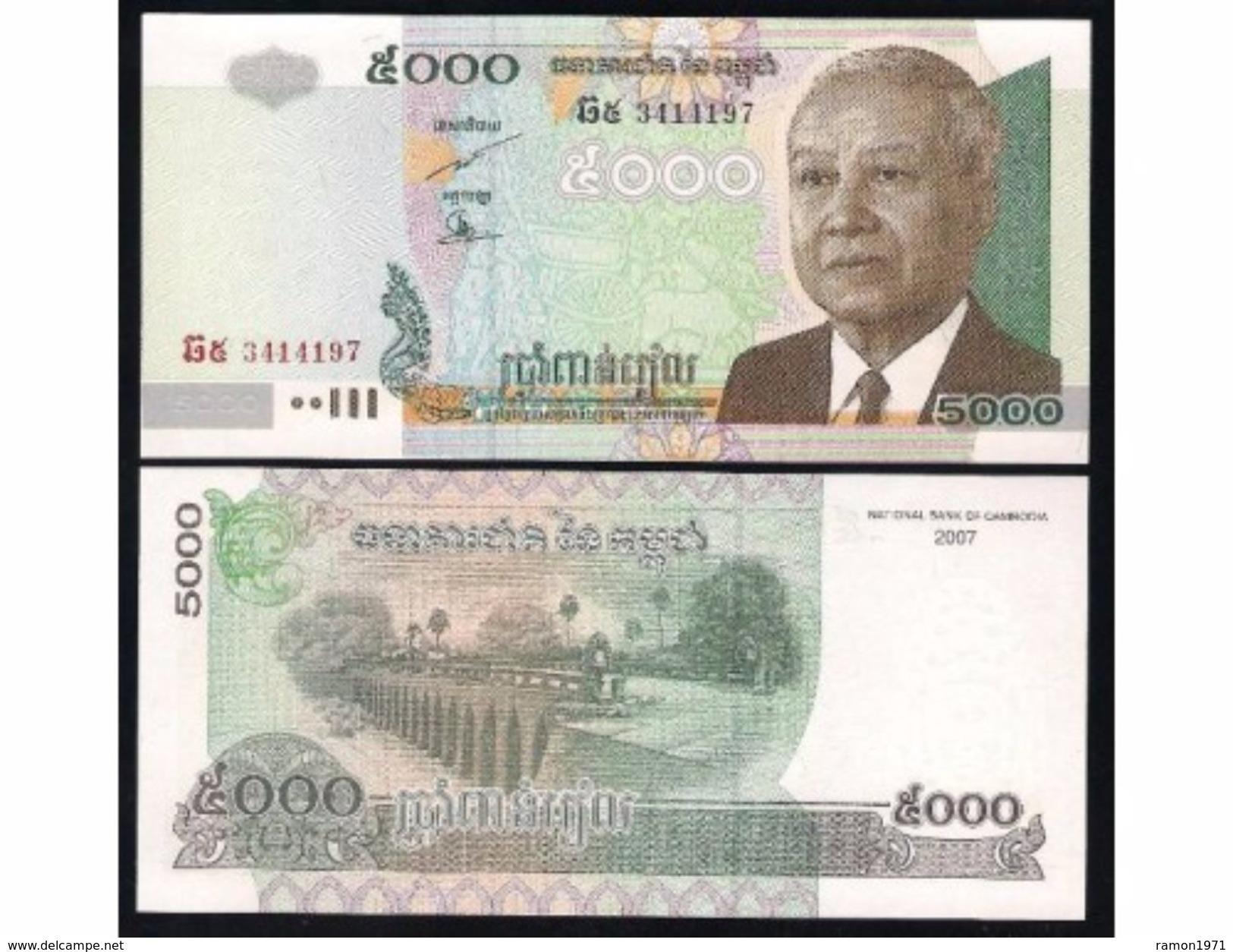 Cambodia 5000 Riels 2007 UNC - Cambodia