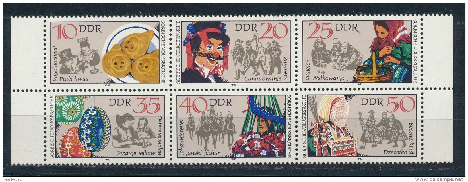 DDR/East Germany/Allemagne Orientale 1982 Mi: 6 Block 2716-2721 Yt:  (PF/MNH/Neuf Sans Ch/**)(2828) - [6] Oost-Duitsland