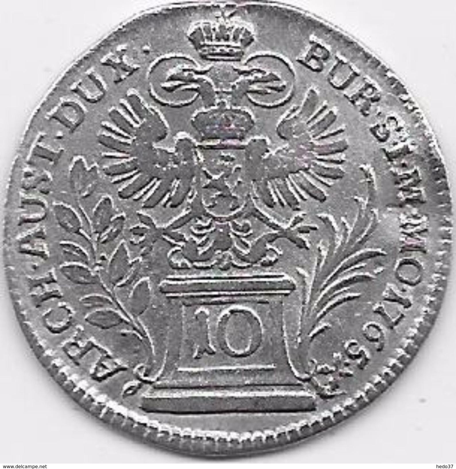 Autriche - Maria Theresa - 10 Kreuzer 1765 - Argent - Autriche