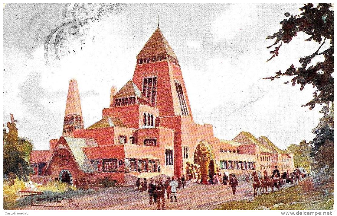 [DC9211] CPA - ESPOSIZIONE INTERNAZIONALE TORINO 1911 - PADIGLIONE DELL'UNGHERIA - Viaggiata 1912 - Old Postcard - Esposizioni
