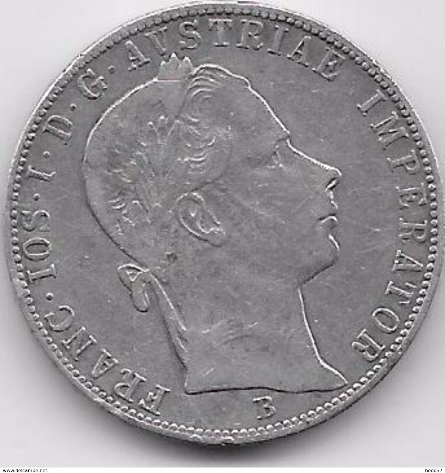 Autriche - 1 Florin 1858 B - Argent - Autriche