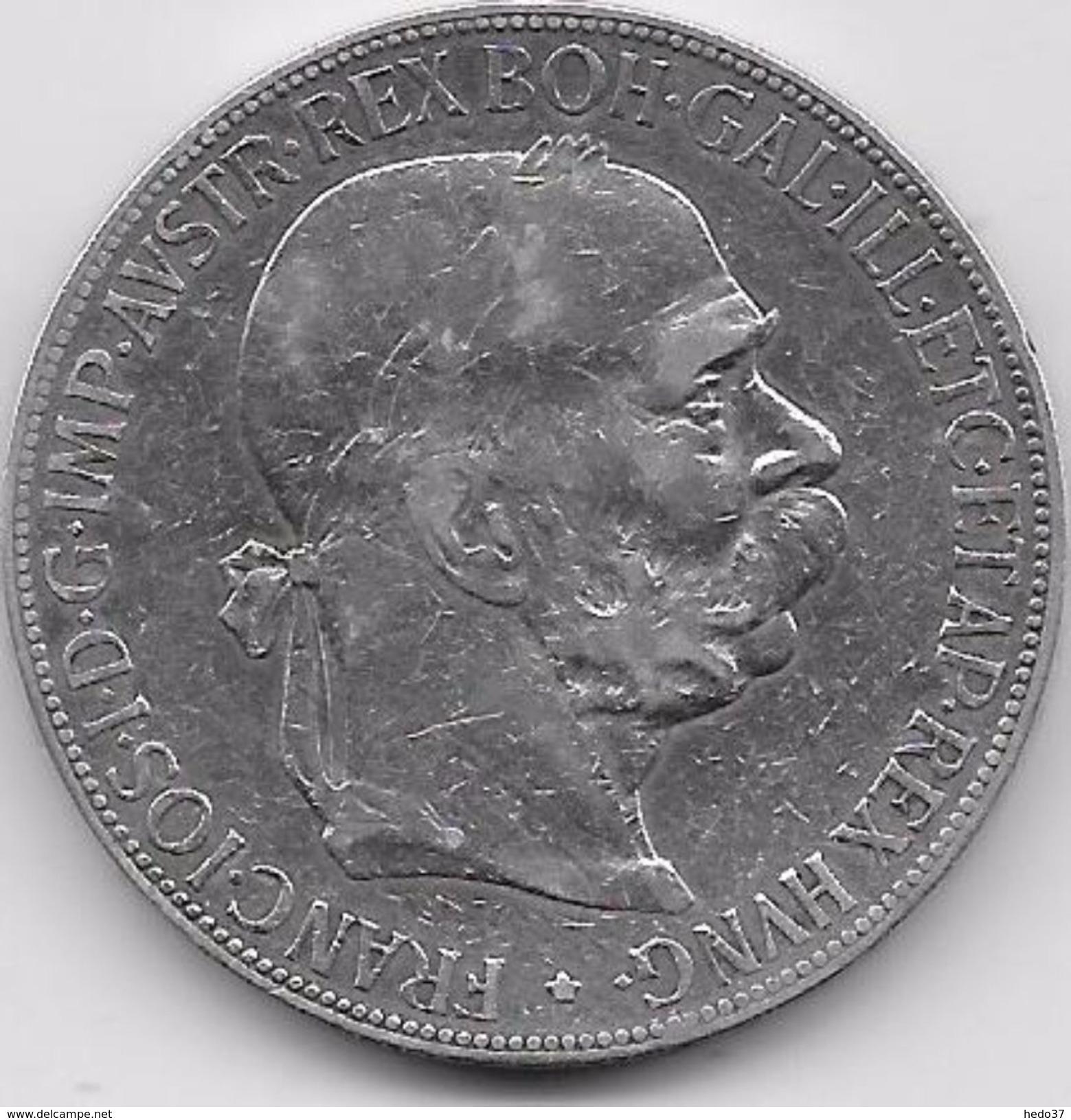 Autriche - 5 Corona 1900  - Argent - Autriche