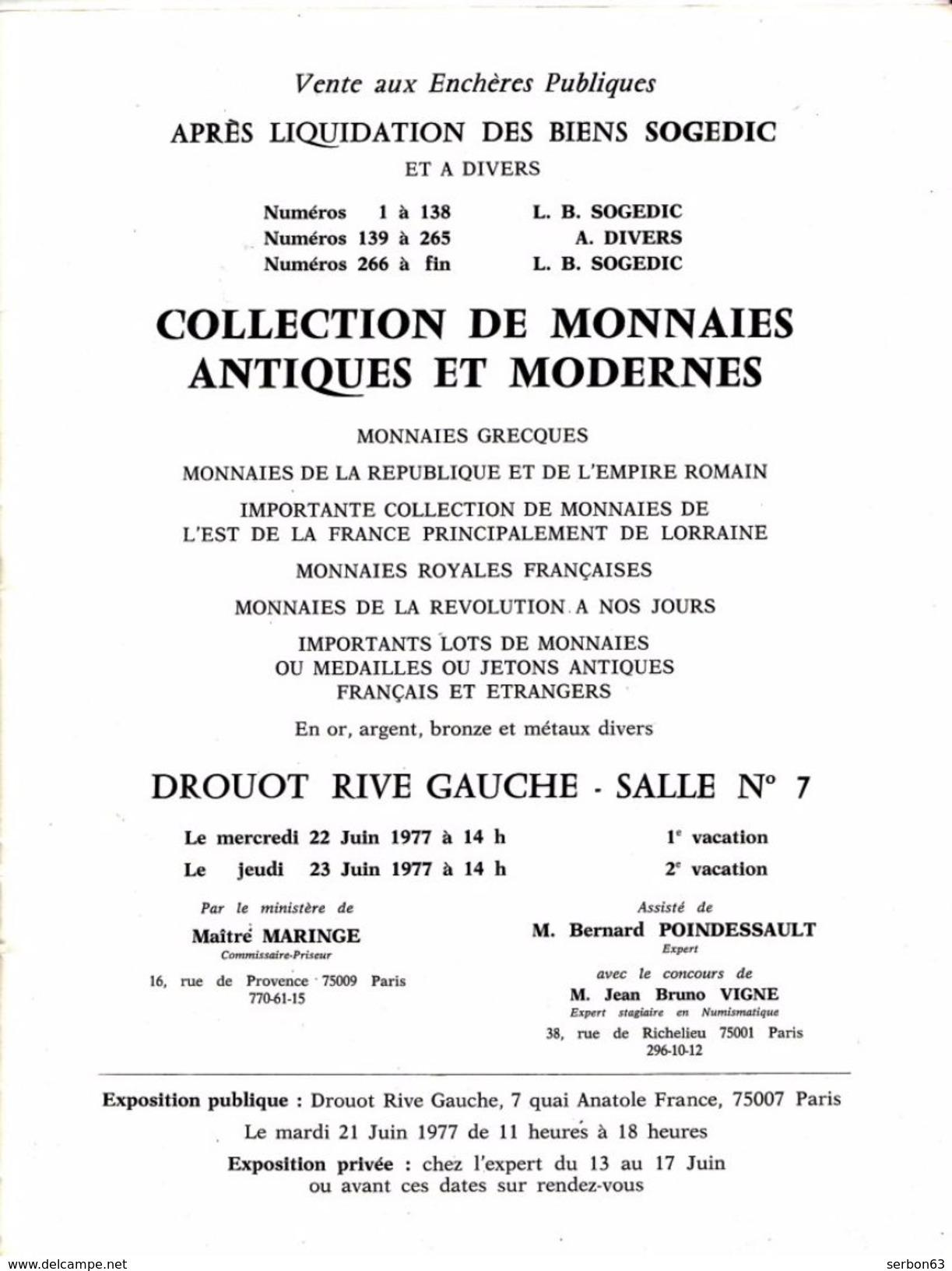 CATALOGUE DE MONNAIES DE COLLECTION ANCIENNES DE 1977 - NOTRE SITE Serbon63 DES MILLIERS D'ARTICLES SONT EN VENTES - French