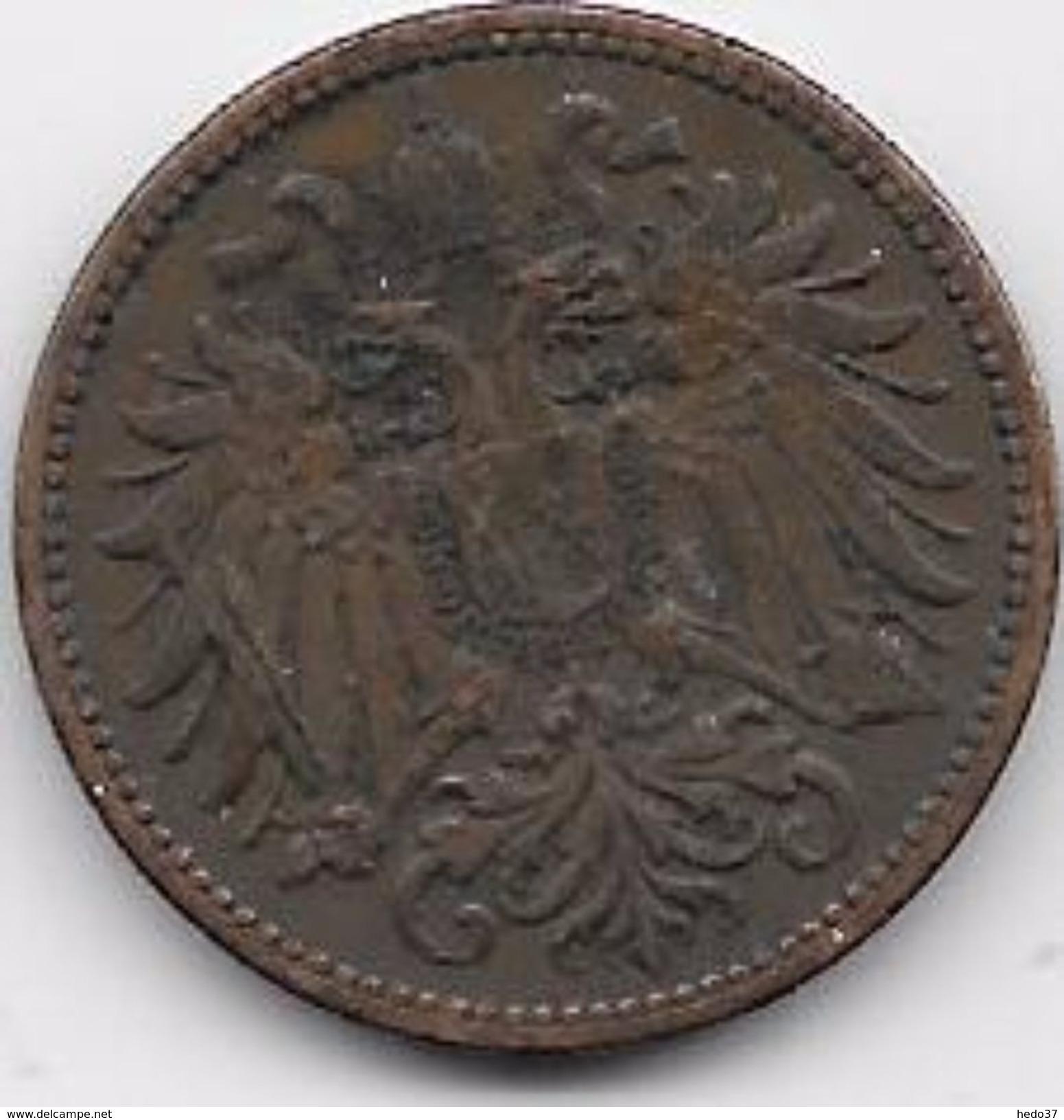 Autriche - 2 Heller 1908 - Autriche