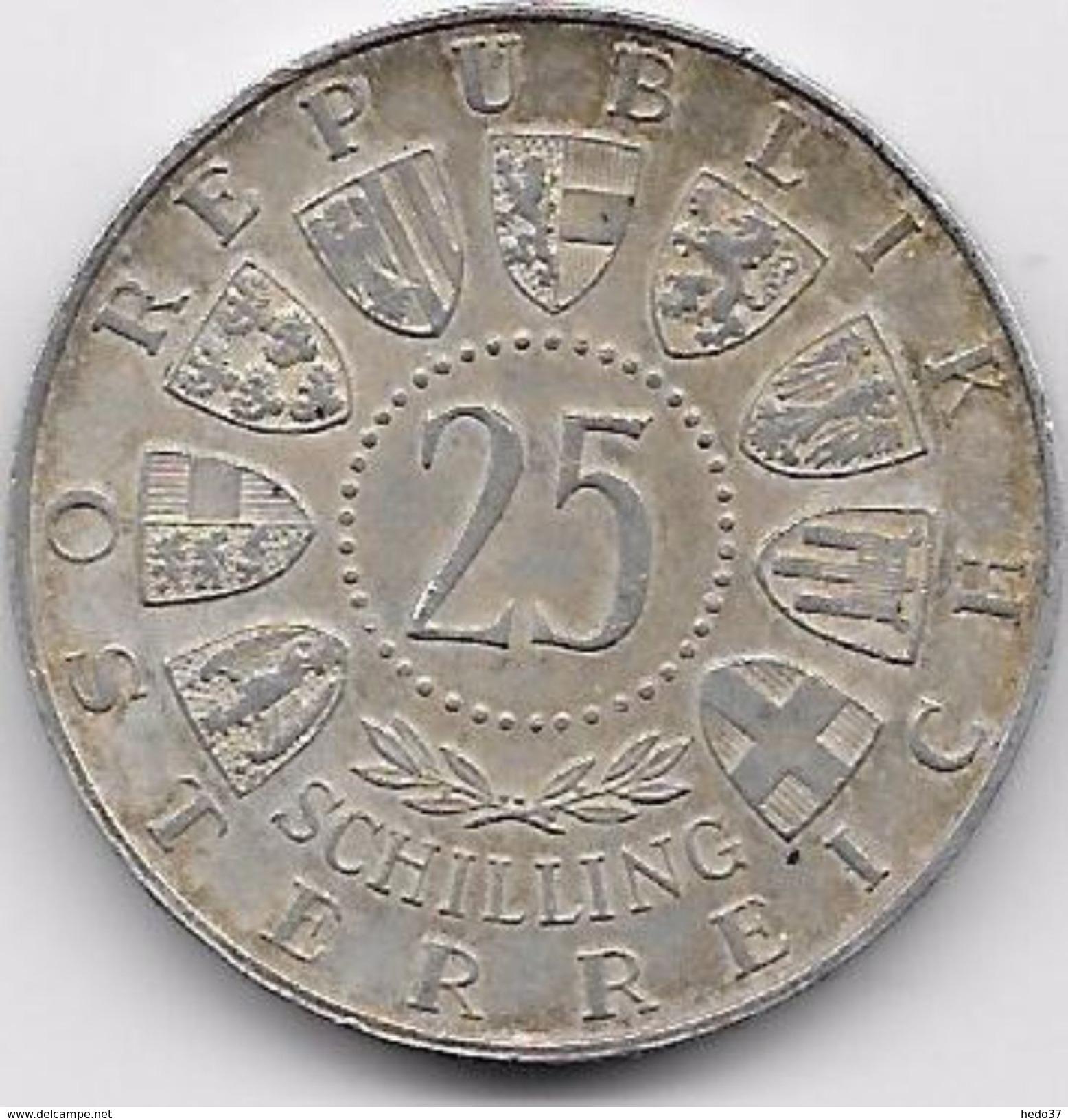 Autriche - 25 Schilling - 1956 - Argent - Autriche