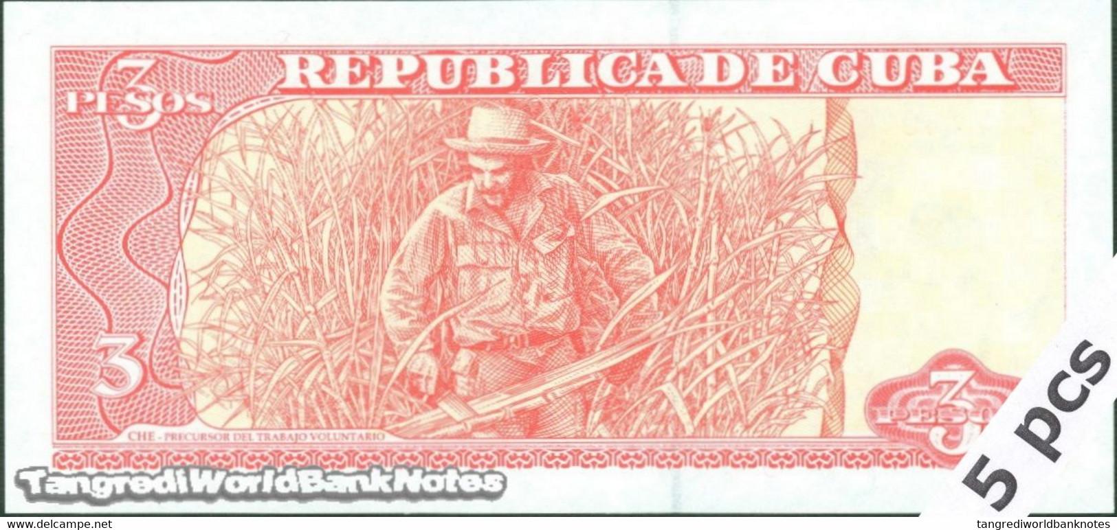 TWN - CUBA 127a - 3 Pesos 2004 DEALERS LOT X 5 - FA-25 UNC - Cuba
