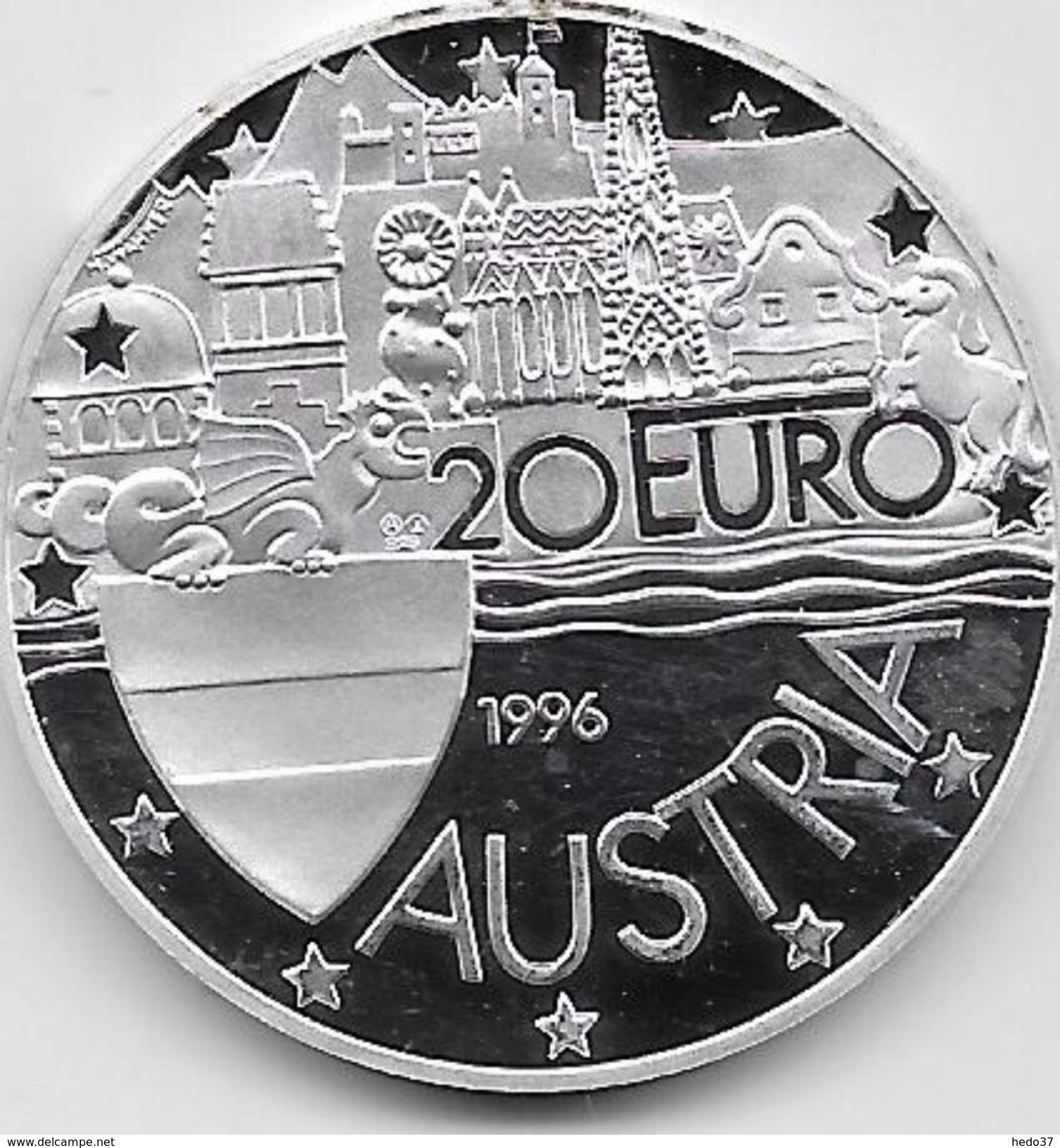 Autriche - 20 Euro Argent - 1996 - Autriche