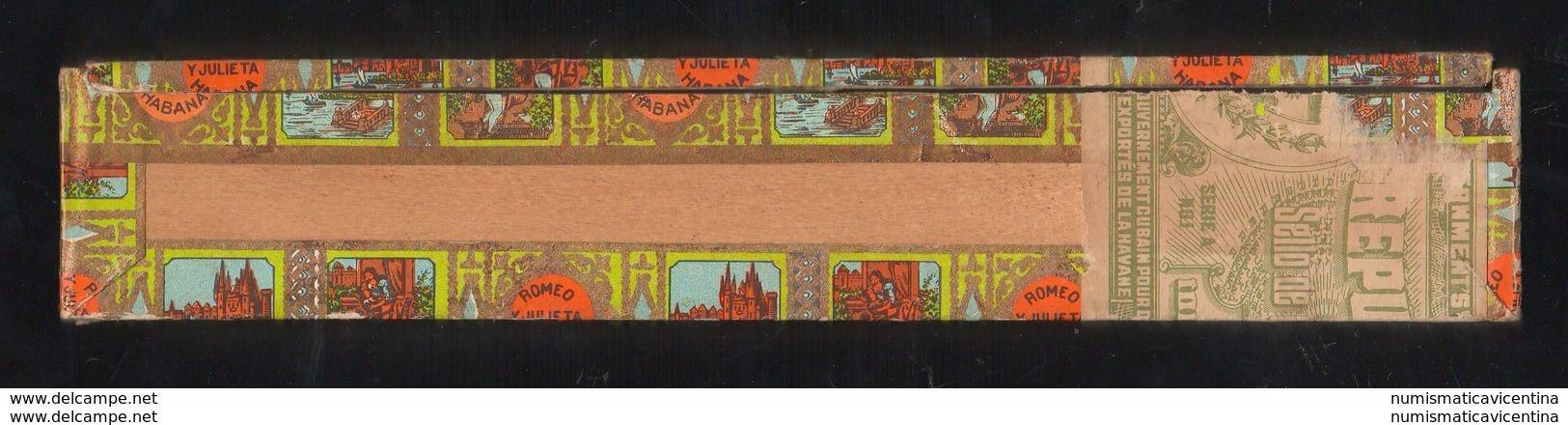 Sigari Cigars Havana ROMEO Y JULIETA Cuba Box Scatola Legno Tobacco Tabac Tabacco Cigares - Contenitori Di Tabacco (vuoti)