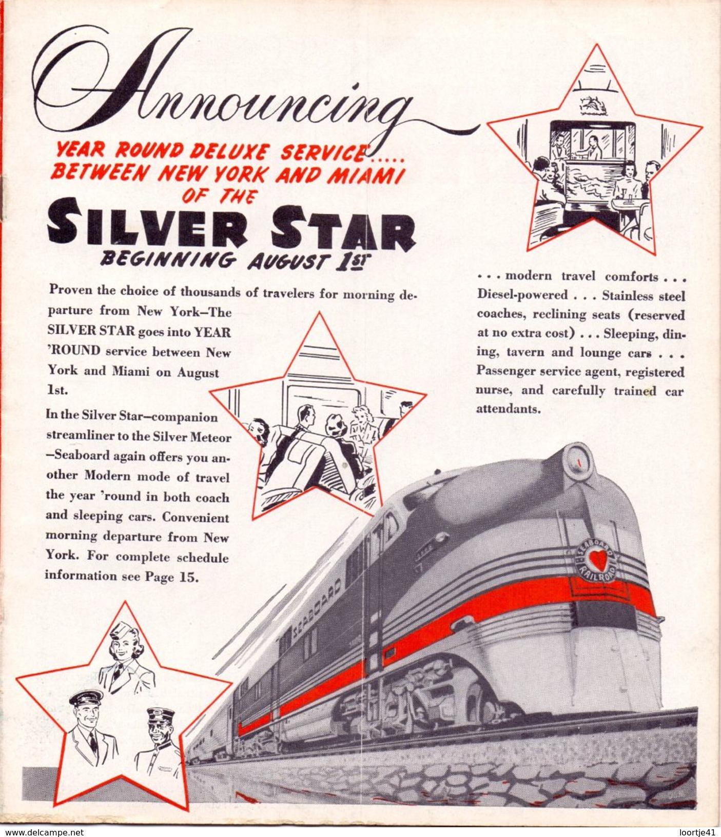 Tourisme - Timetables Schedules Dienstregeling  - Trains Treinen Seaboard Air Line Railroad Time Tables 1948 - World