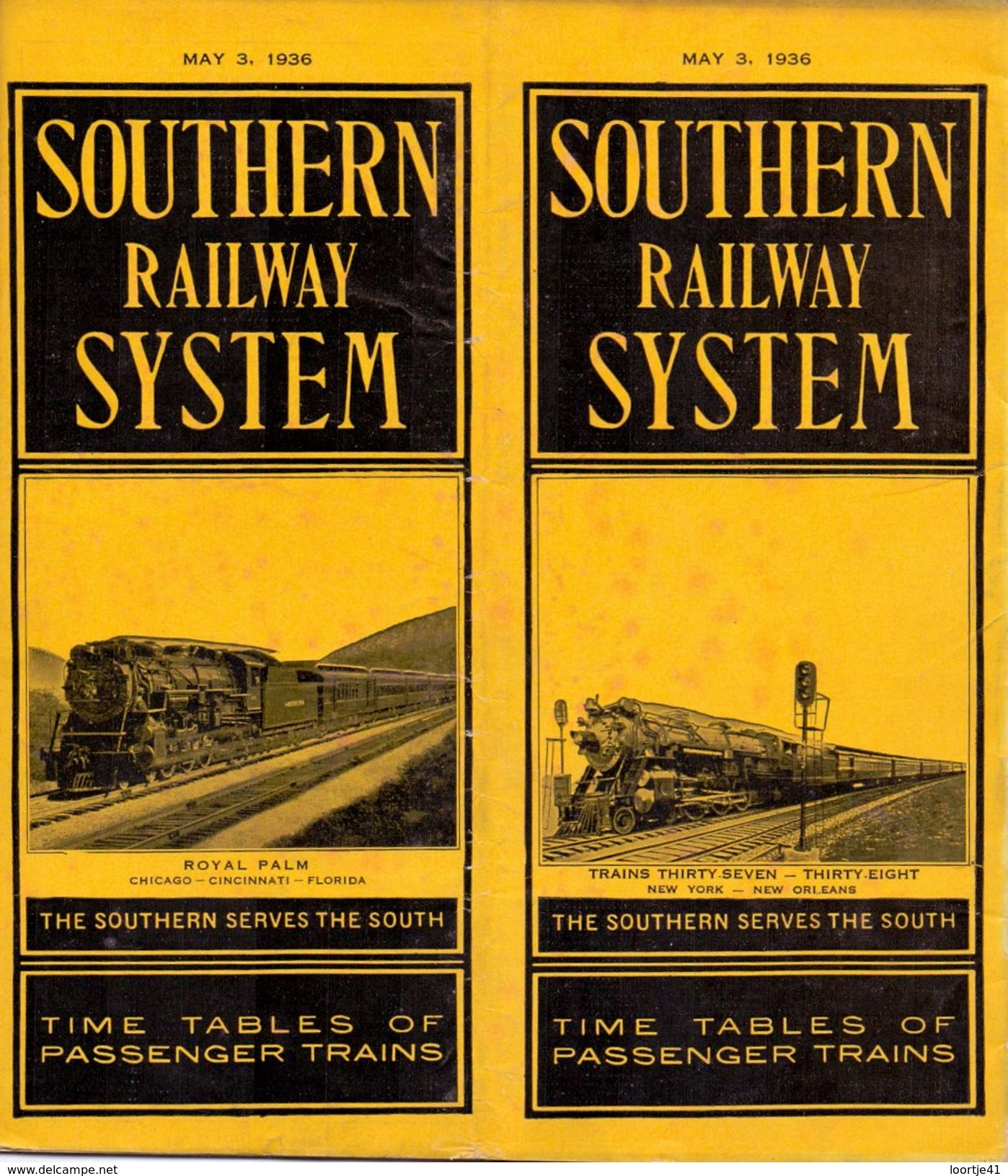 Tourisme - Timetables Schedules Dienstregeling  - Trains Treinen Southern Railway System  Time Tables 1936 - World