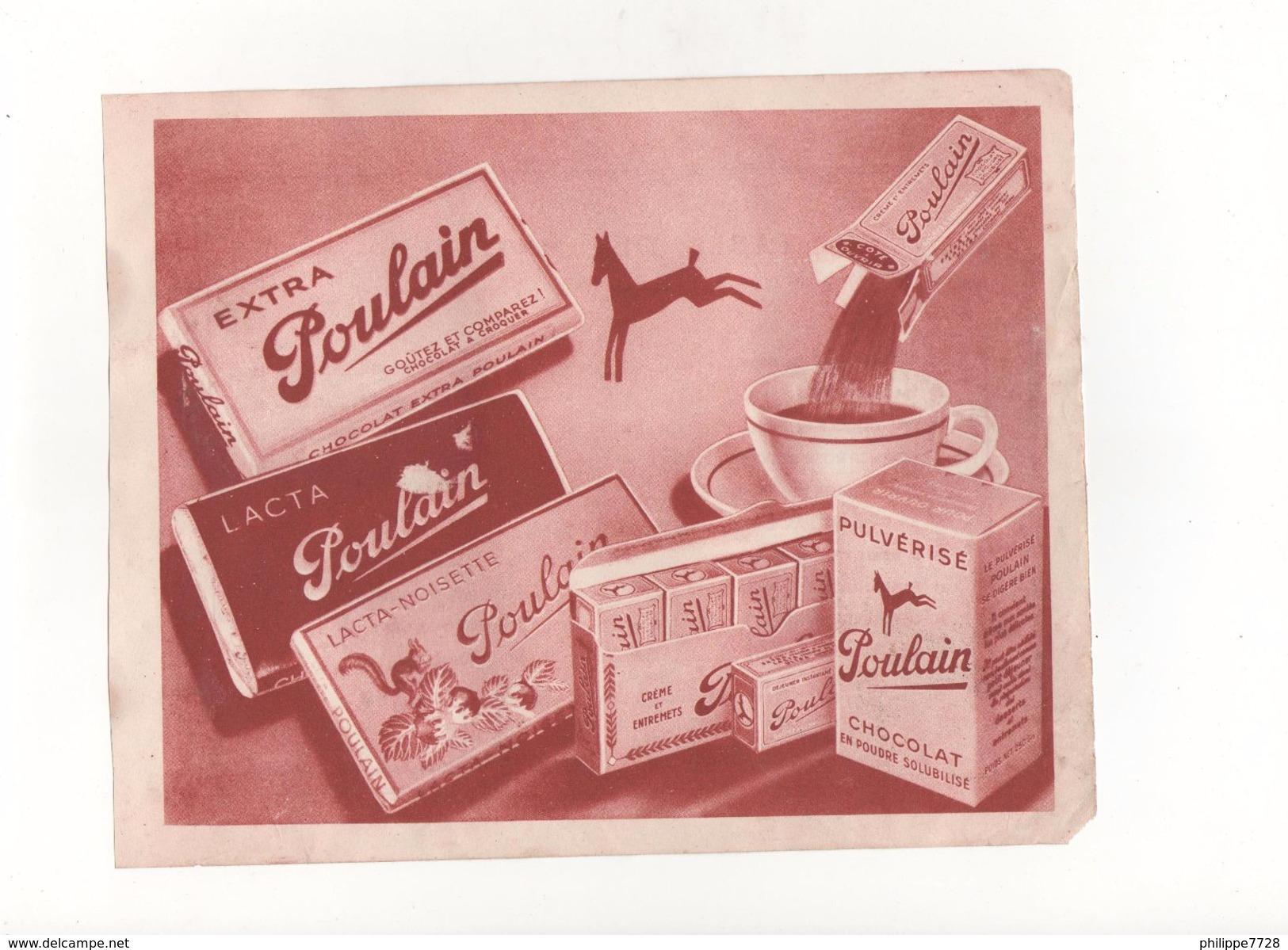 Publicité Chocolat Poulain - Chocolat