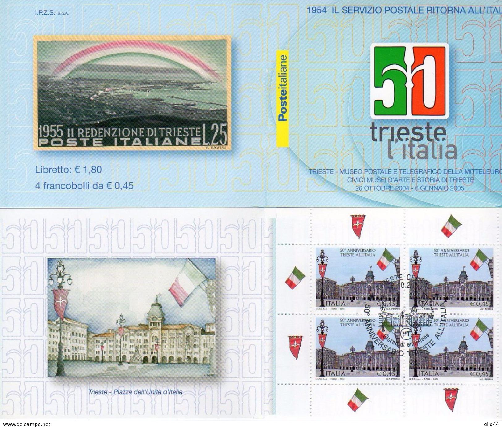 Italia 2004 -Trieste 25.10.2004 - 50° Anniv. Trieste All'Italia ( 1° Giorno) - - 6. 1946-.. Repubblica