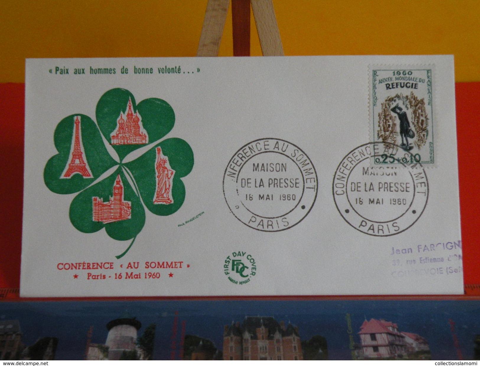 Coté ..€ > Maison De La Presse Conférence Au Sommet à Paris > 16.5.1960 > 75 Paris > FDC 1er Jour - 1960-1969