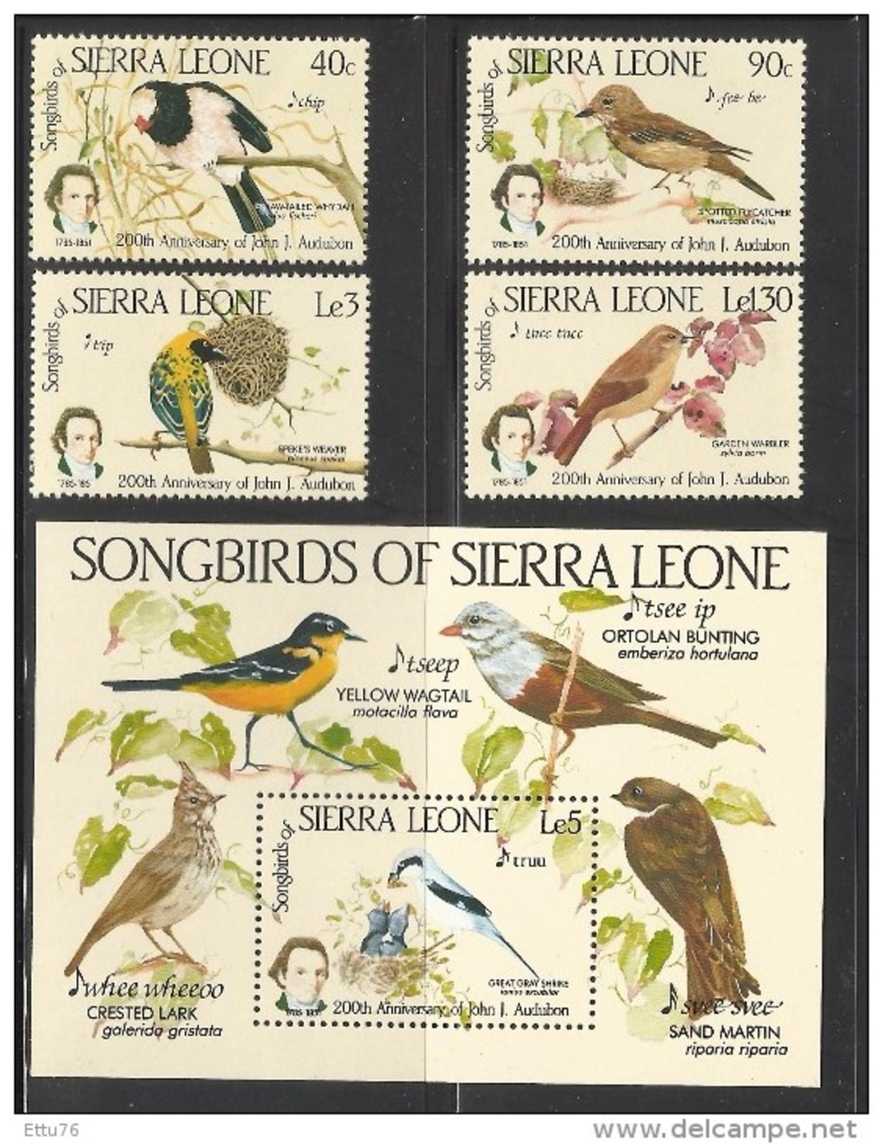SIERRA LEONE  1985  BIRDS  SET &  MS MNH - Birds