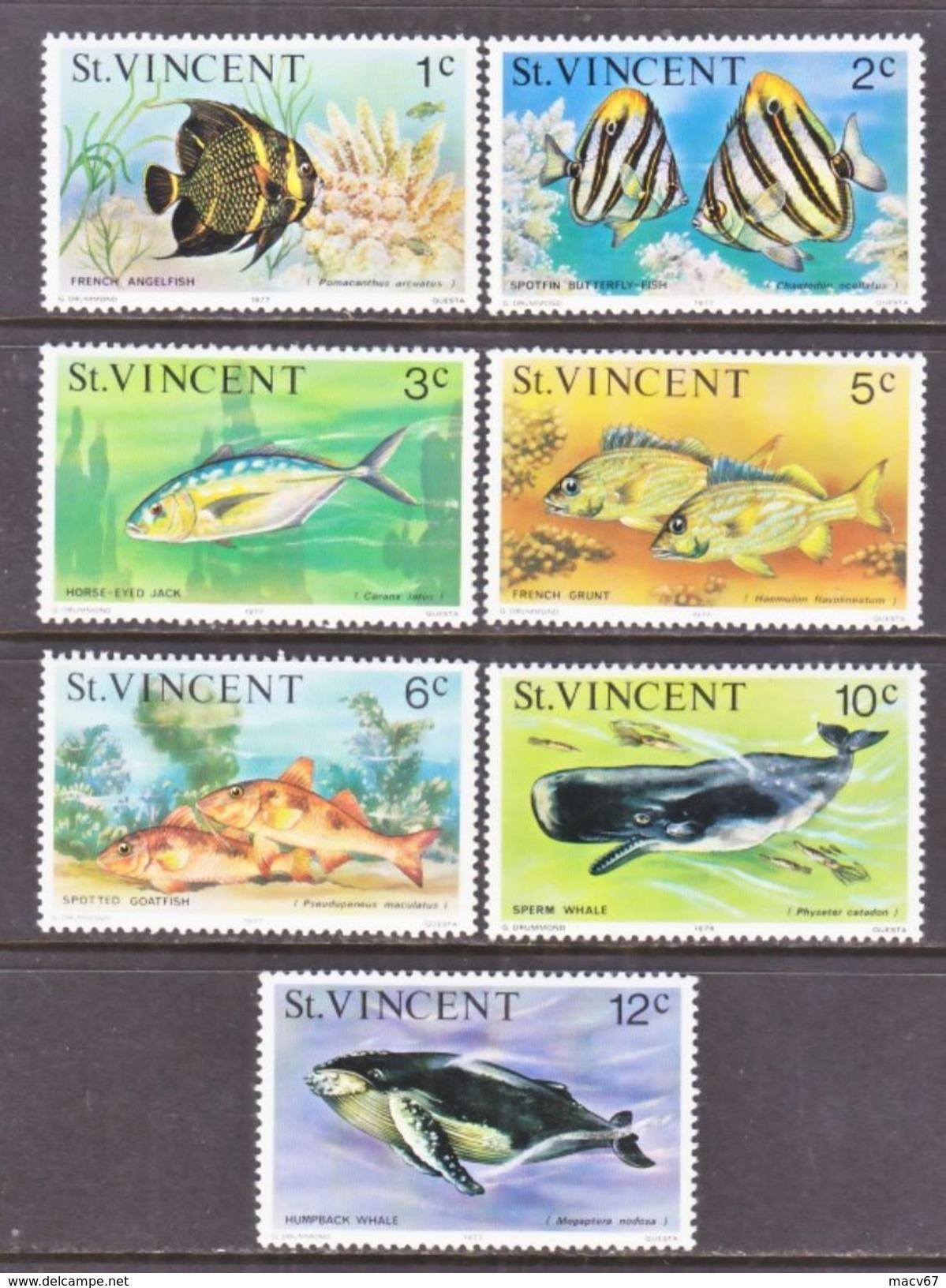 ST. VINCENT  407+    **     OCEAN  FISHES   WHALES - St.Vincent (...-1979)