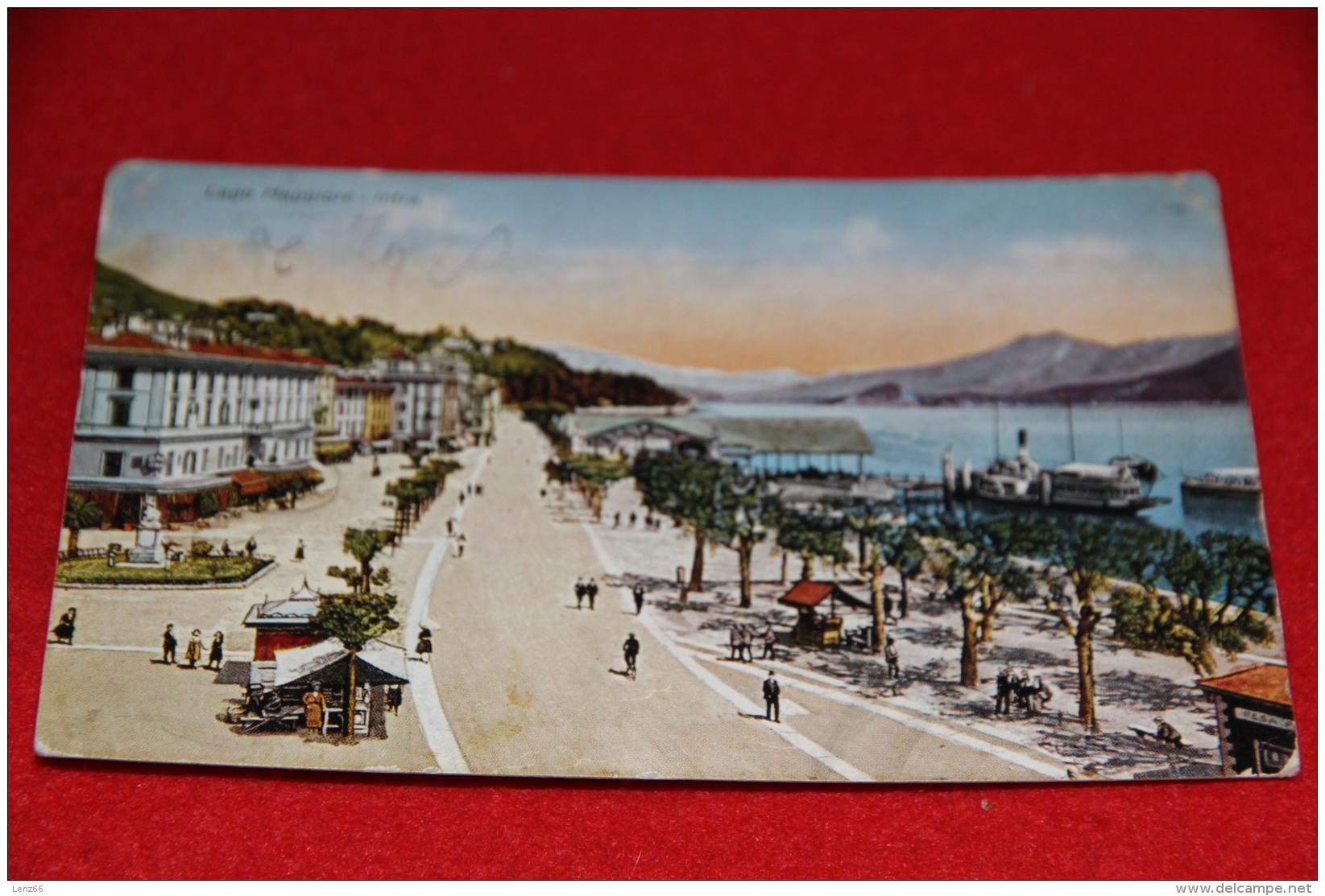 Lago Maggiore Intra Verbania 1928 Timbro Ovada Alessandria - Verbania