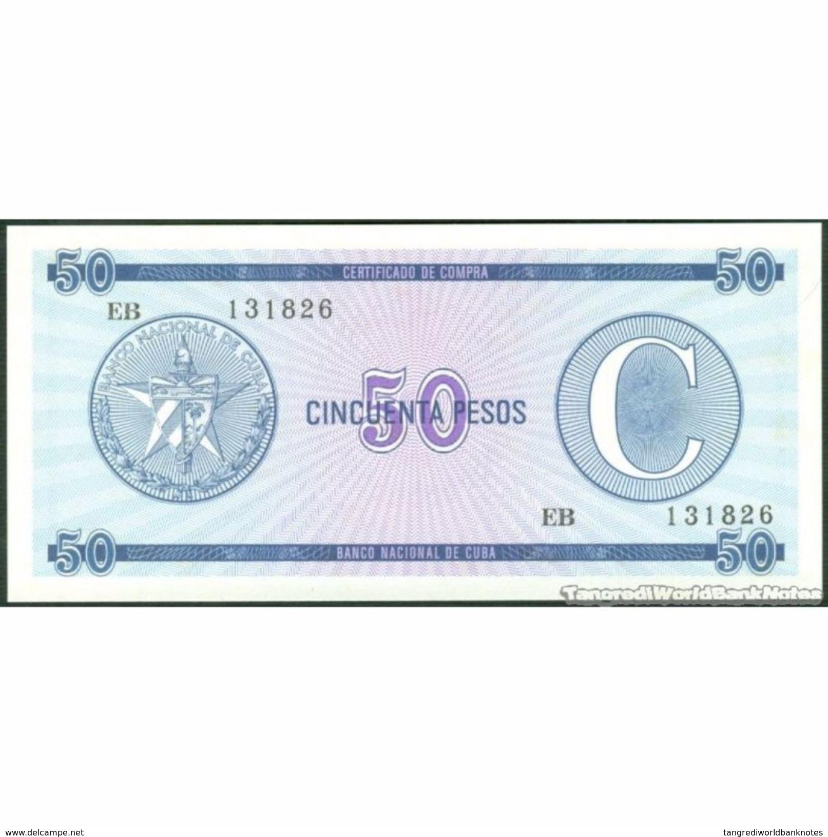 TWN - CUBA FX24 - 50 Pesos 1985 Serie C - Prefix EB UNC - Cuba