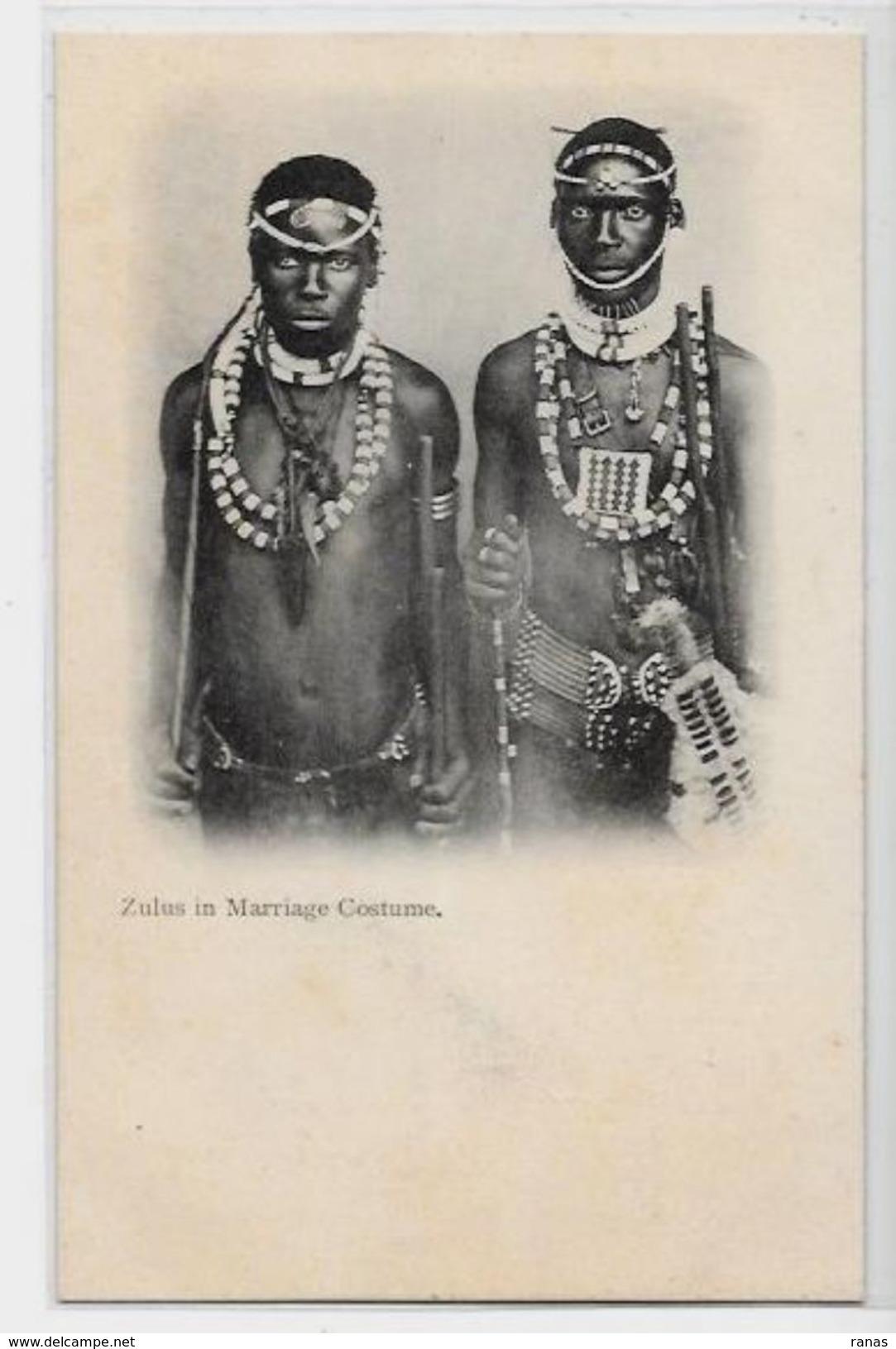 CPA Afrique Du Sud Zulus Non Circulé Mariage - Afrique Du Sud