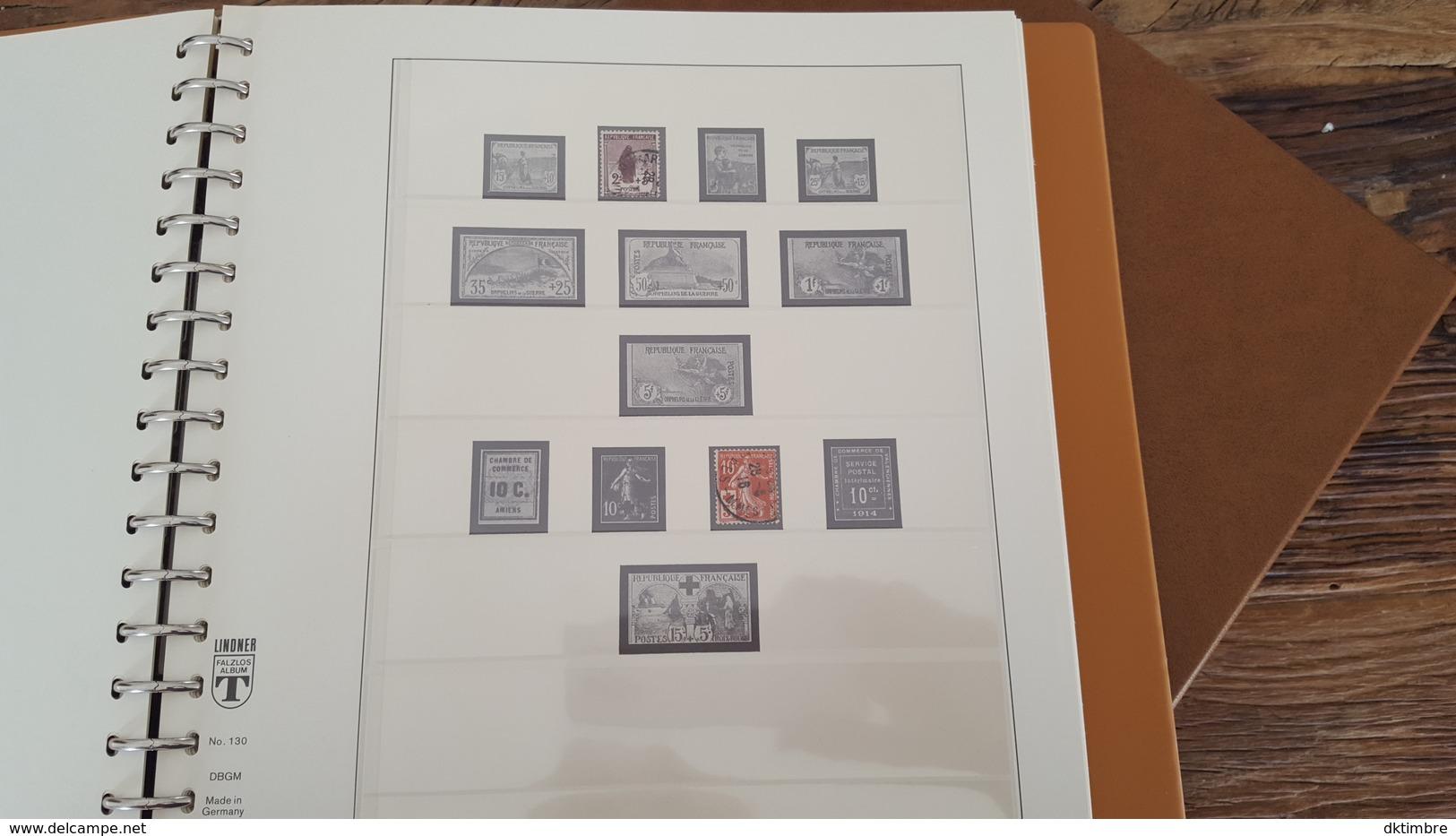 LOT 375678 ALBUM TIMBRE DE FRANCE LINDNER DE 1849 A 1940 TIMBRE NEUF* OBLITERE PORT A 10 EUROS - Sammlungen (im Alben)
