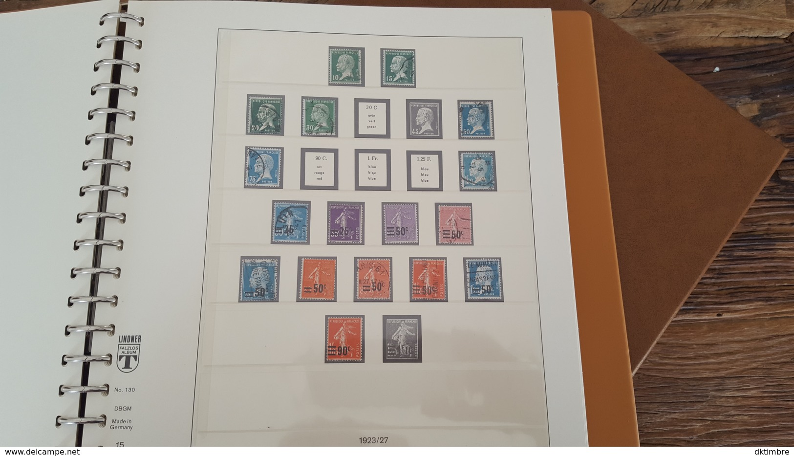 LOT 375678 ALBUM TIMBRE DE FRANCE LINDNER DE 1849 A 1940 TIMBRE NEUF* OBLITERE PORT A 10 EUROS - Stamps