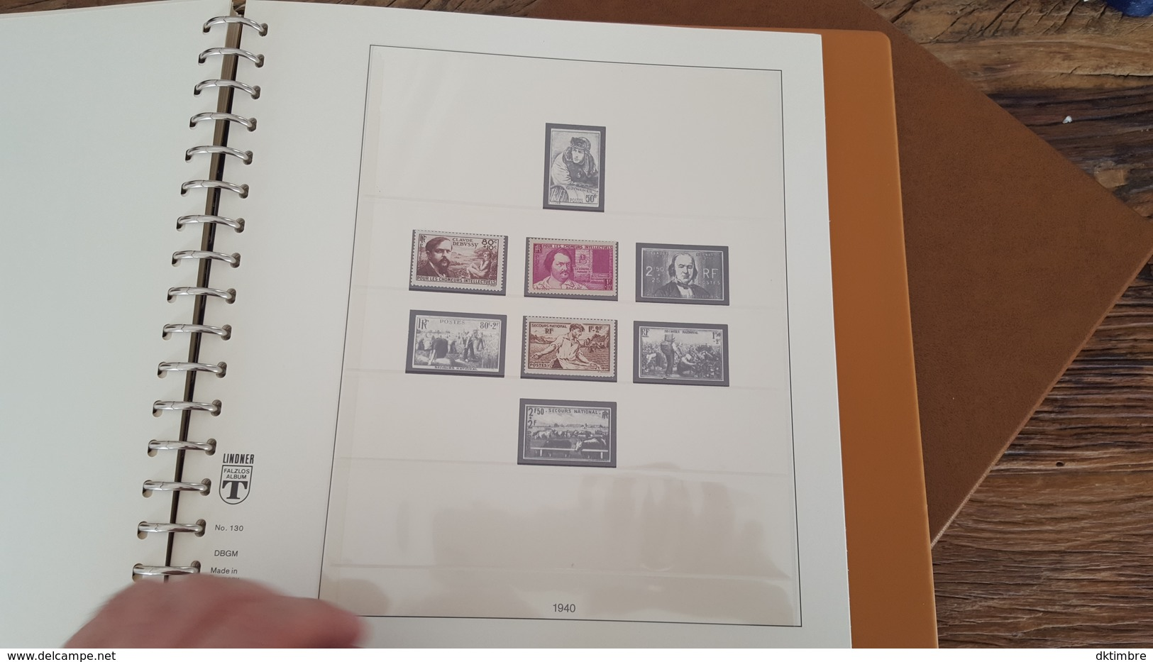 LOT 375678 ALBUM TIMBRE DE FRANCE LINDNER DE 1849 A 1940 TIMBRE NEUF* OBLITERE PORT A 10 EUROS - Collections (with Albums)