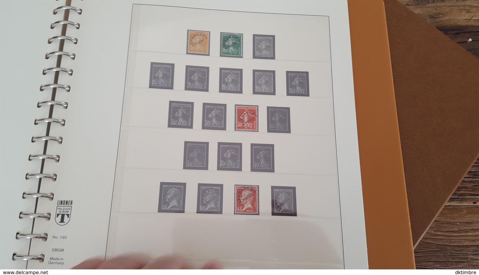 LOT 375678 ALBUM TIMBRE DE FRANCE LINDNER DE 1849 A 1940 TIMBRE NEUF* OBLITERE PORT A 10 EUROS - Briefmarken