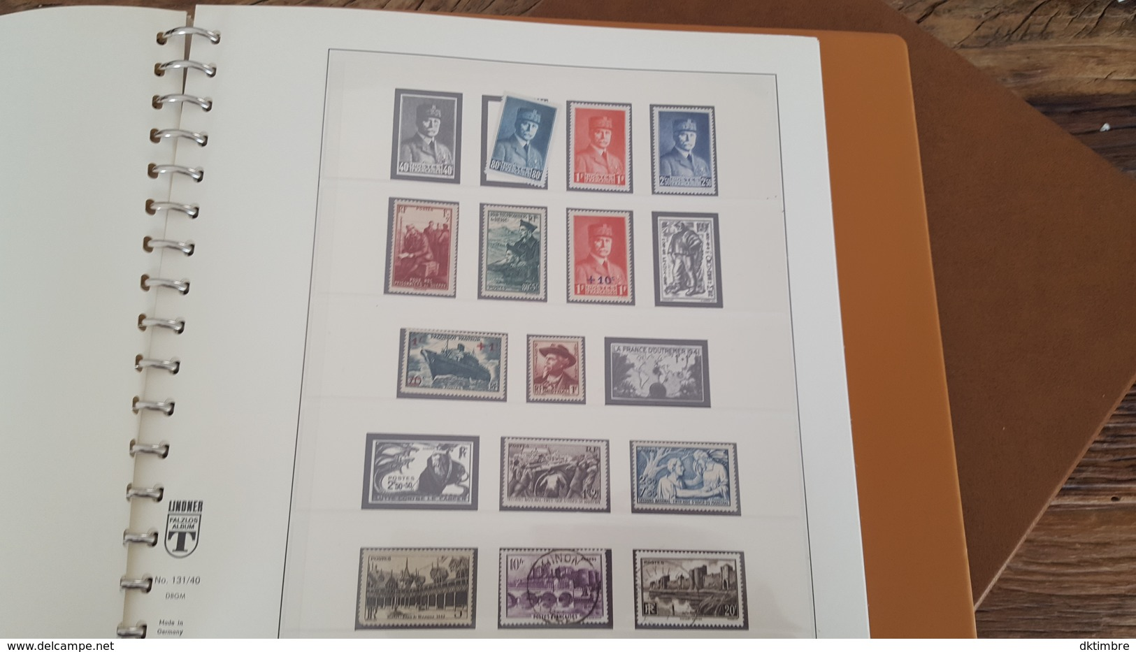 LOT 375678 ALBUM TIMBRE DE FRANCE LINDNER DE 1849 A 1940 TIMBRE NEUF* OBLITERE PORT A 10 EUROS - Timbres