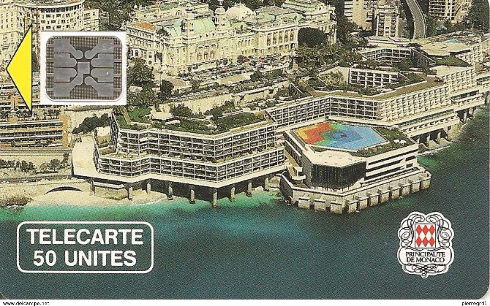 CARTE-PUBLIC-MONACO-50U-MF4A-SC5 An-PALAIS CONGRES-V° 5 Pe14863-UTILISE-TBE - Monaco