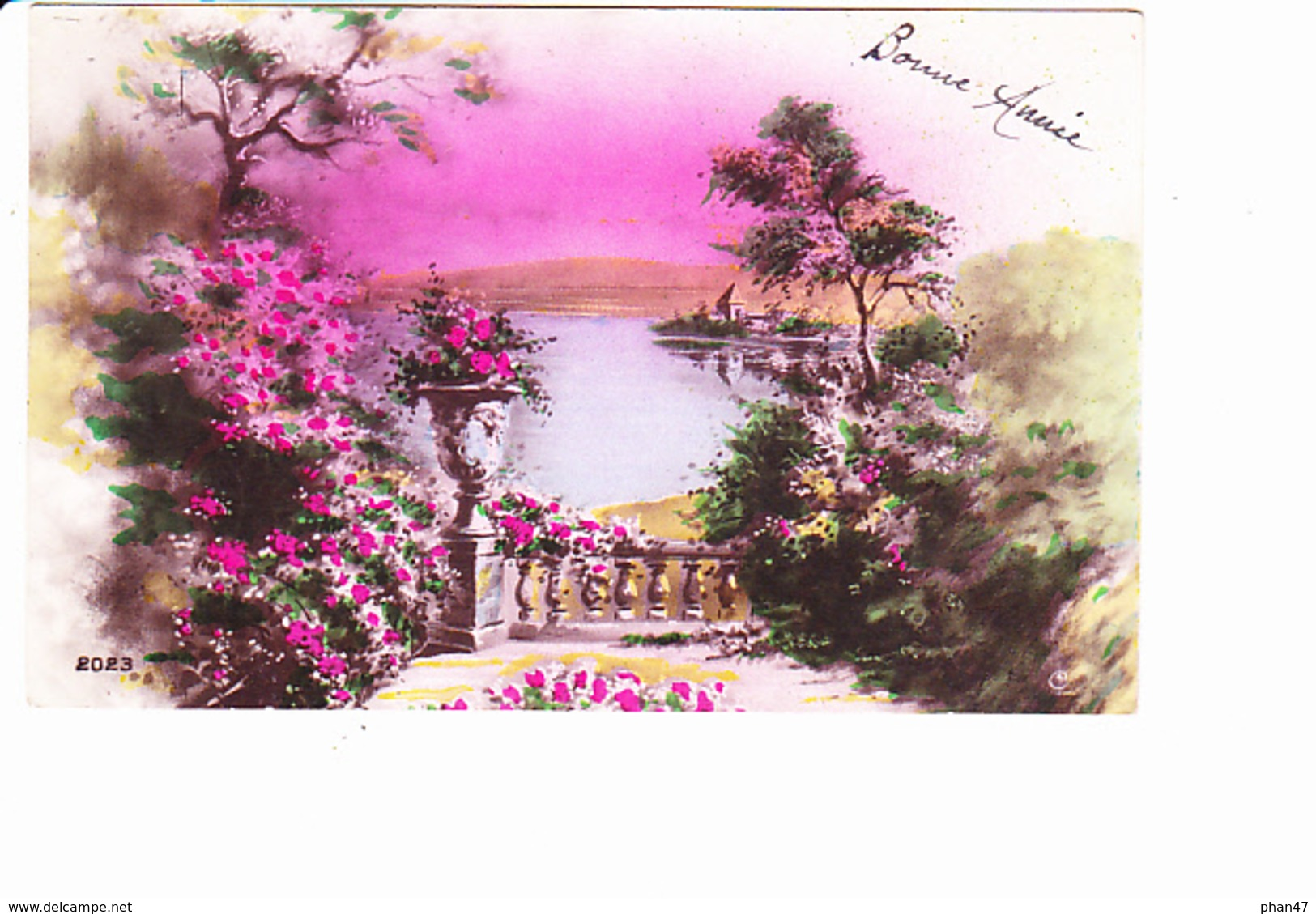 BONNE ANNEE, Paysage De Lac, Balustrade, Ed. Rip 1932 - Nouvel An