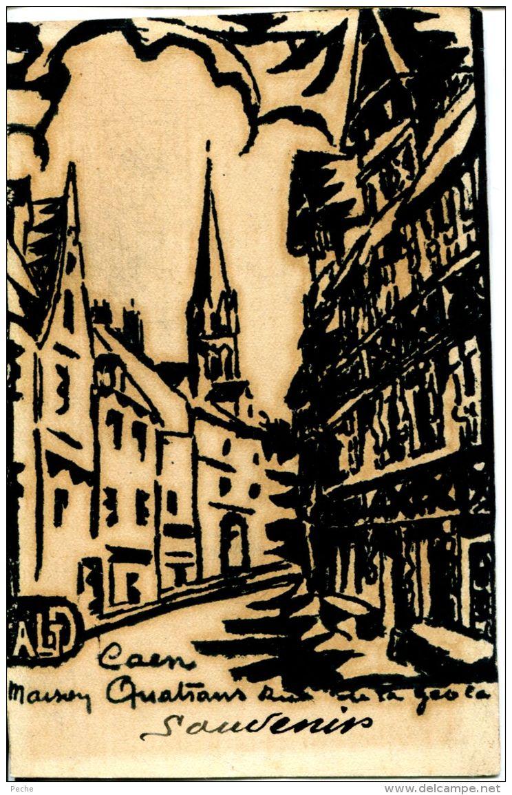 N°59514 -carte Caen -maison Quatrans Rue De Geole- - Caen