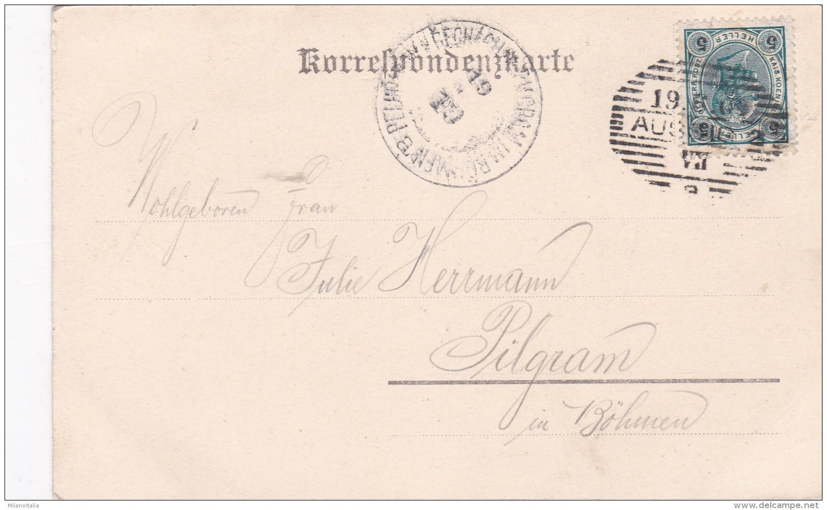 Aussig - Wannow - Parthie An Der Elbe Mit Dampfschiff-Landeplatz (4742) - Tschechische Republik