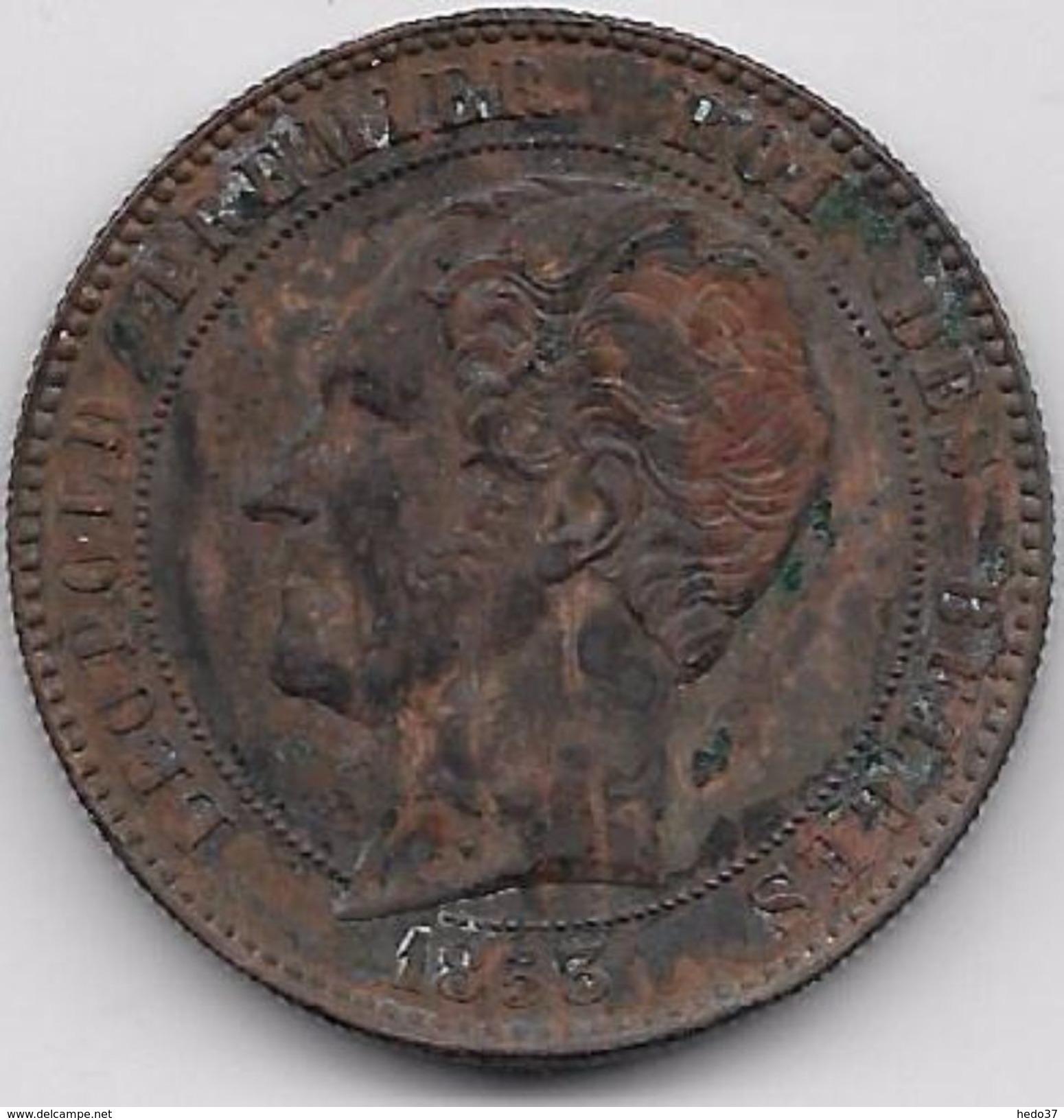 Belgique - 10 Centimes 1853 - 1831-1865: Léopold I
