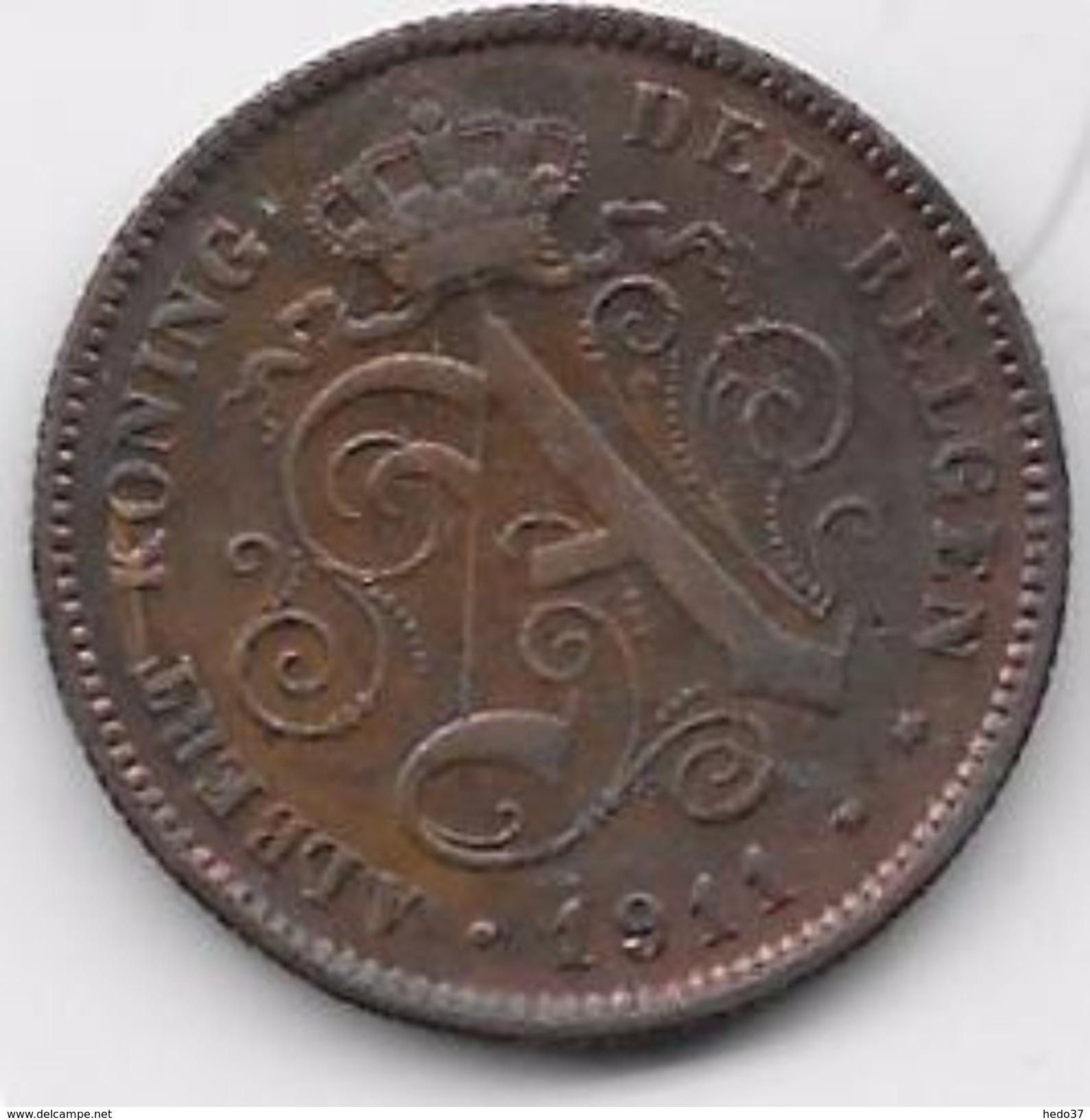 Belgique - 2 Centimes 1911 - 1909-1934: Albert I