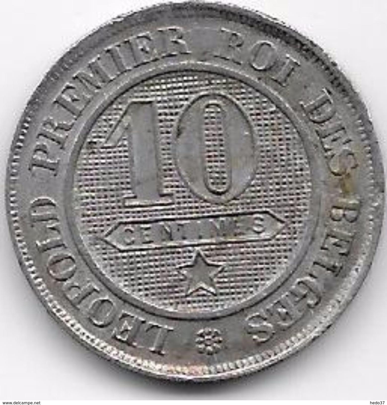 Belgique - 10 Centimes 1863 - 1831-1865: Léopold I