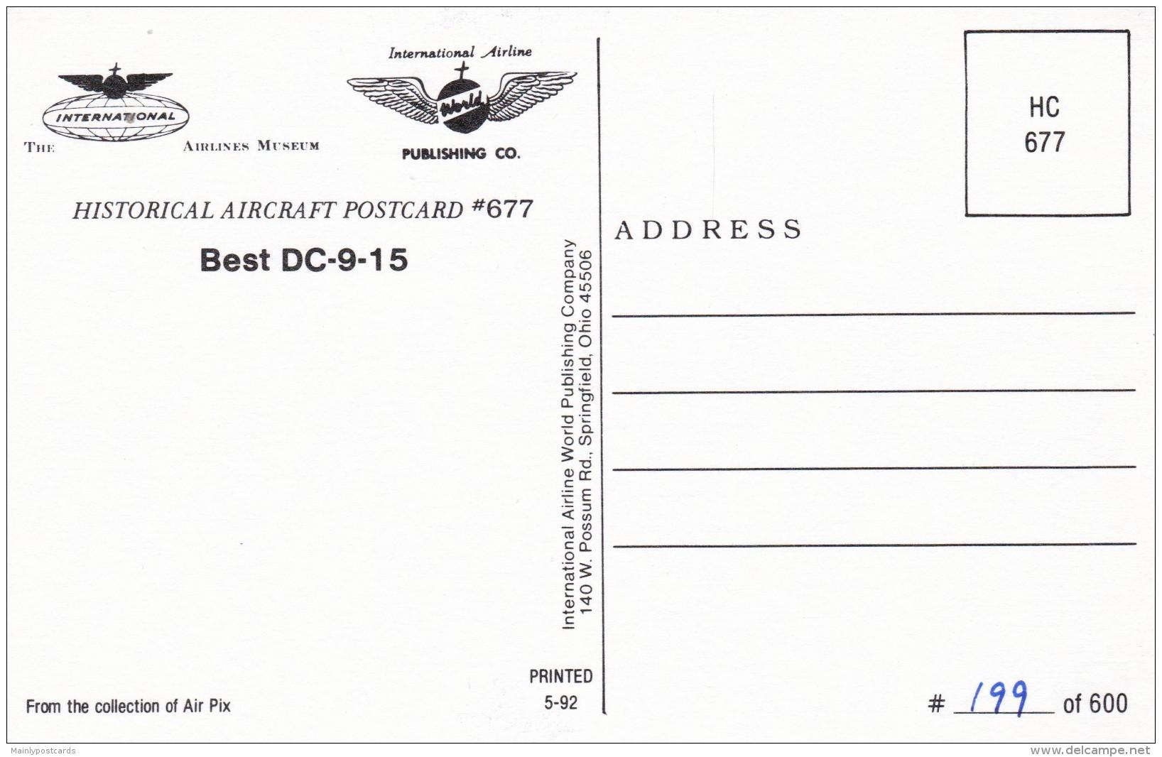 AQ87 Aviation - Best DC9-15 - 1946-....: Modern Era