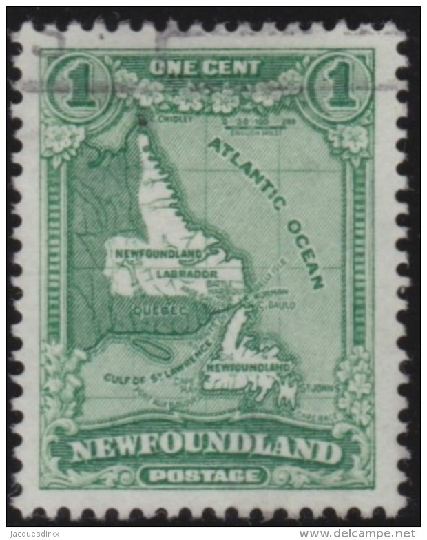 Newfoundlans    .    SG   .     198     .       O      .     Gebruikt   .    /      .        Cancelled - 1908-1947