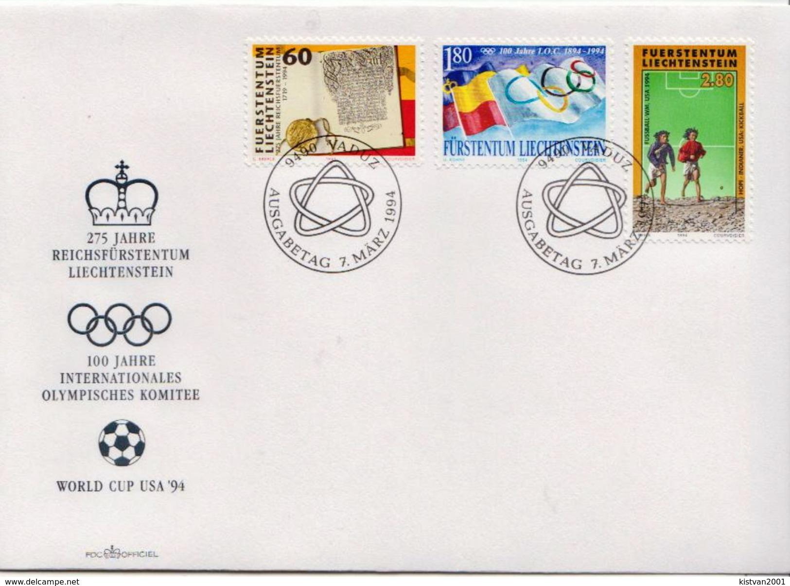 Liechtenstein Stamps On FDC - World Cup