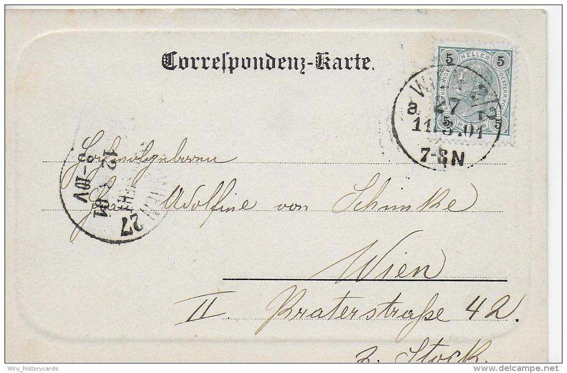 AK 0796  Gruss Aus Wien - Volksgarten / Verlag Kölz Um 1901 - Wien Mitte