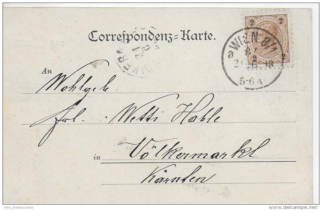 AK 0796  Gruss Aus Wien - Donnerbrunnen Und Evang. Kirche / Verlag Ledermann Um 1898 - Wien Mitte