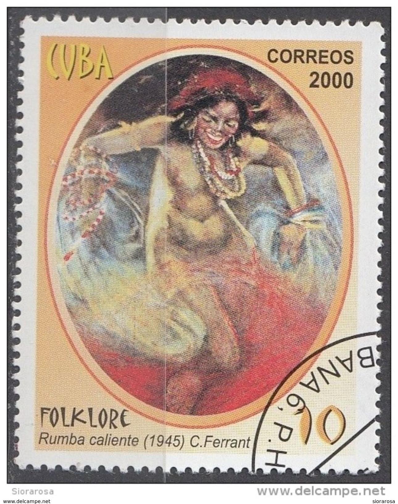 "4058 Cuba 2000 "" Rumba Caliente ""  Quadro Dipinto Da C. Ferrant Preobliterato Impressionismo Painting Tableaux - Nudes"